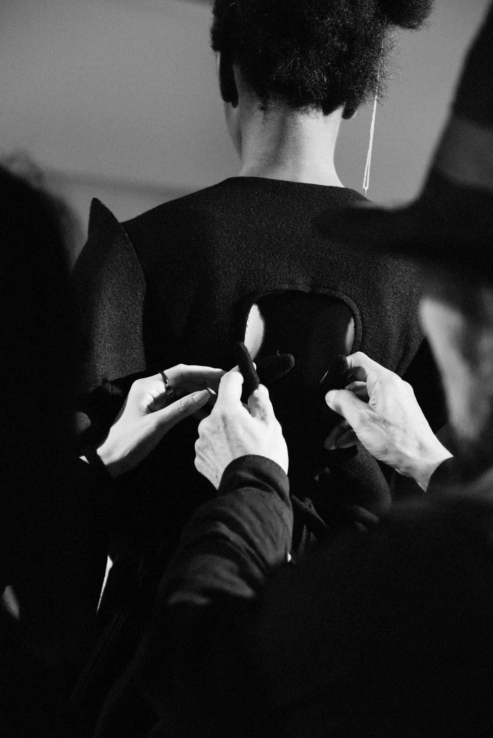Dress Detail 2019 Backstage Yohji Yamamoto