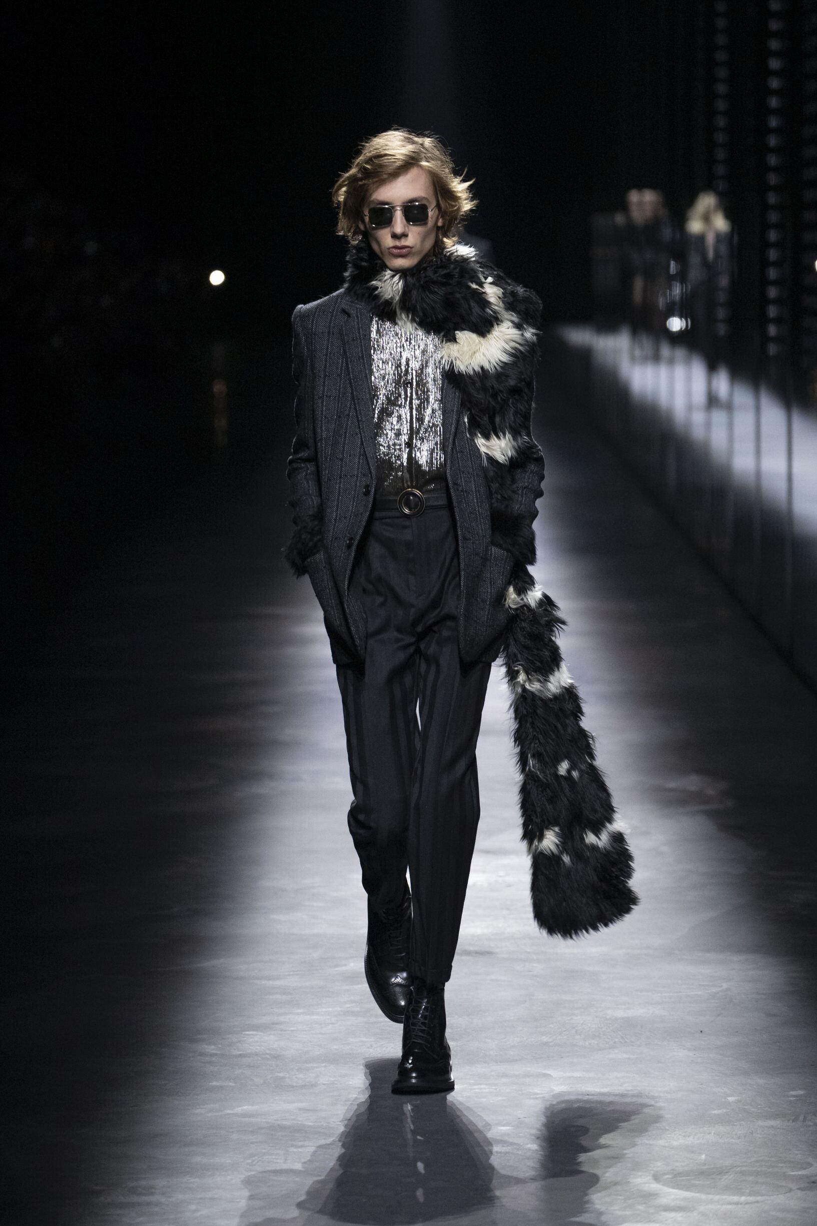 Fashion 2019 Catwalk Saint Laurent Winter Mens Collection