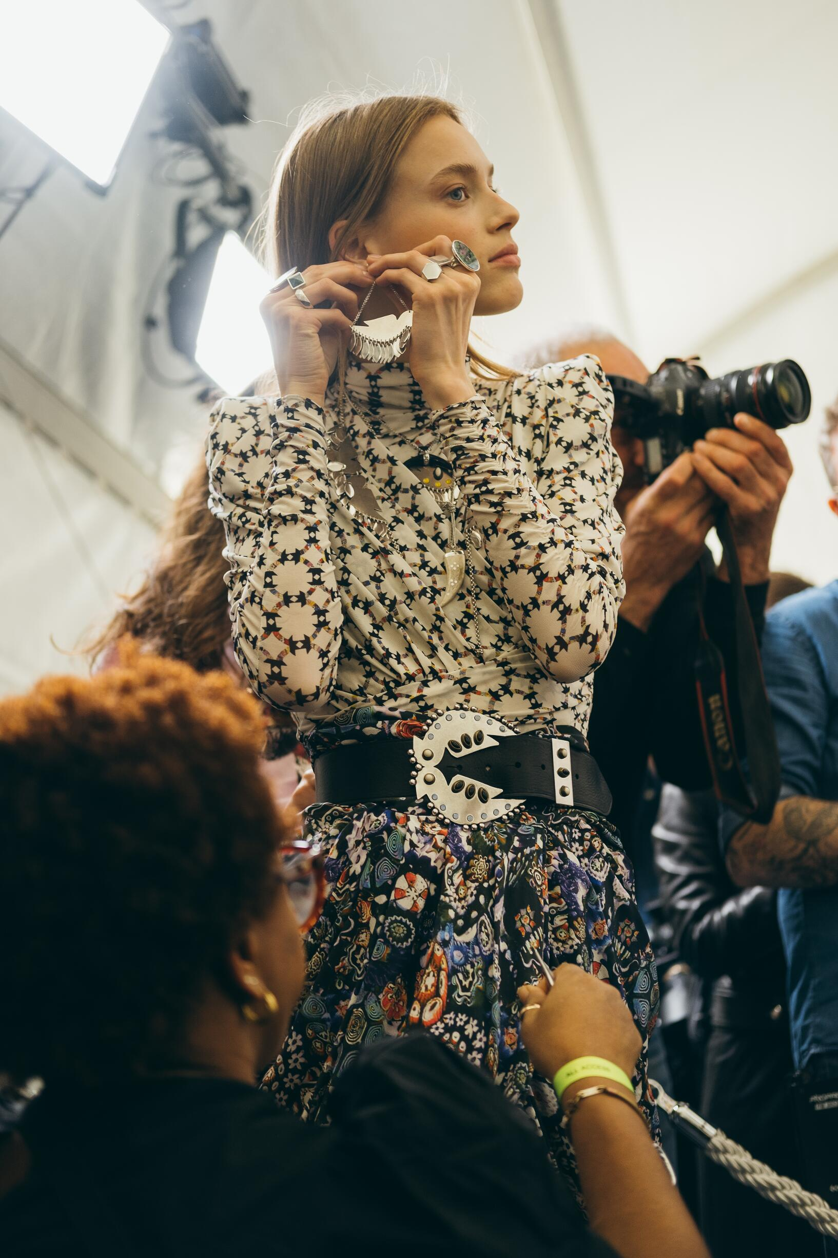 Fashion Model 2019 Backstage Isabel Marant