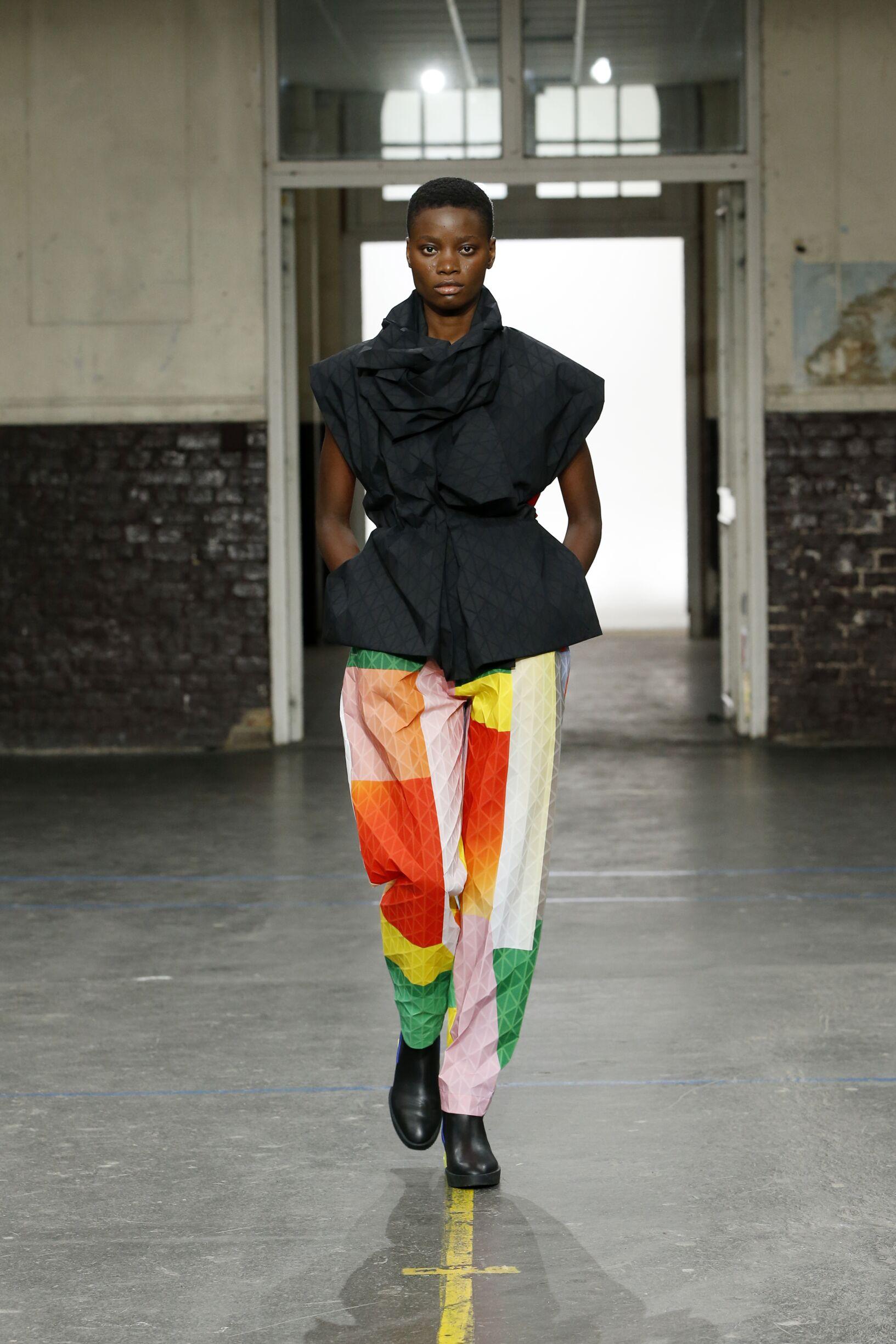Fashion Model Issey Miyake Catwalk