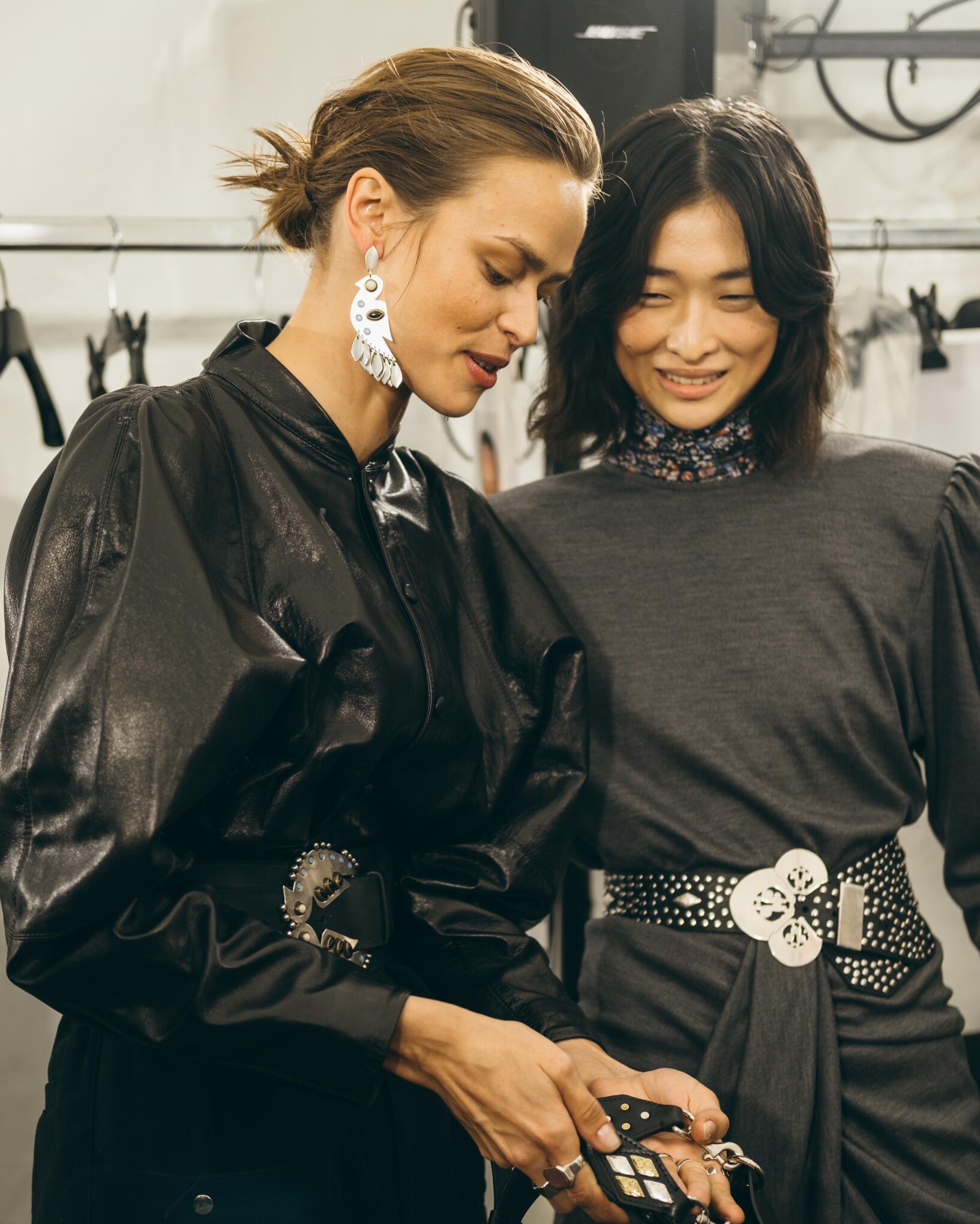 Fashion Models Backstage Isabel Marant