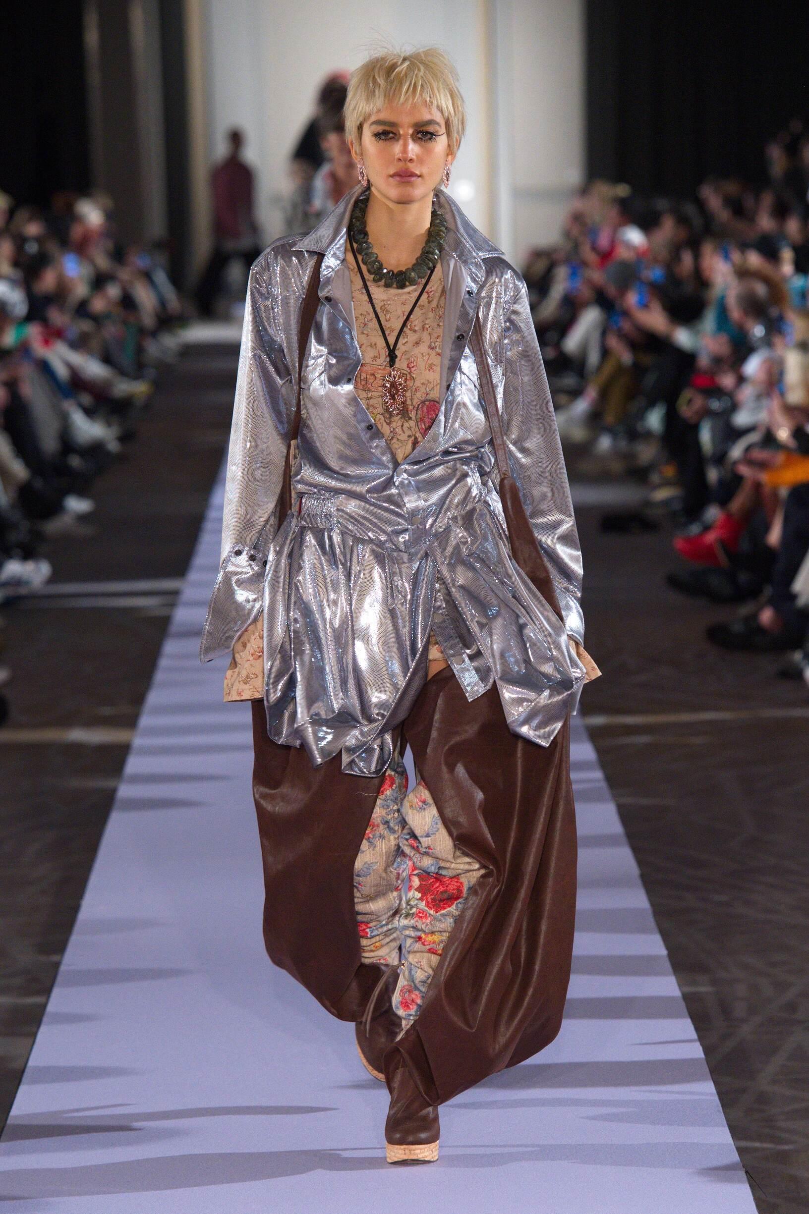 Fashion Show Woman Model Andreas Kronthaler for Vivienne Westwood Catwalk
