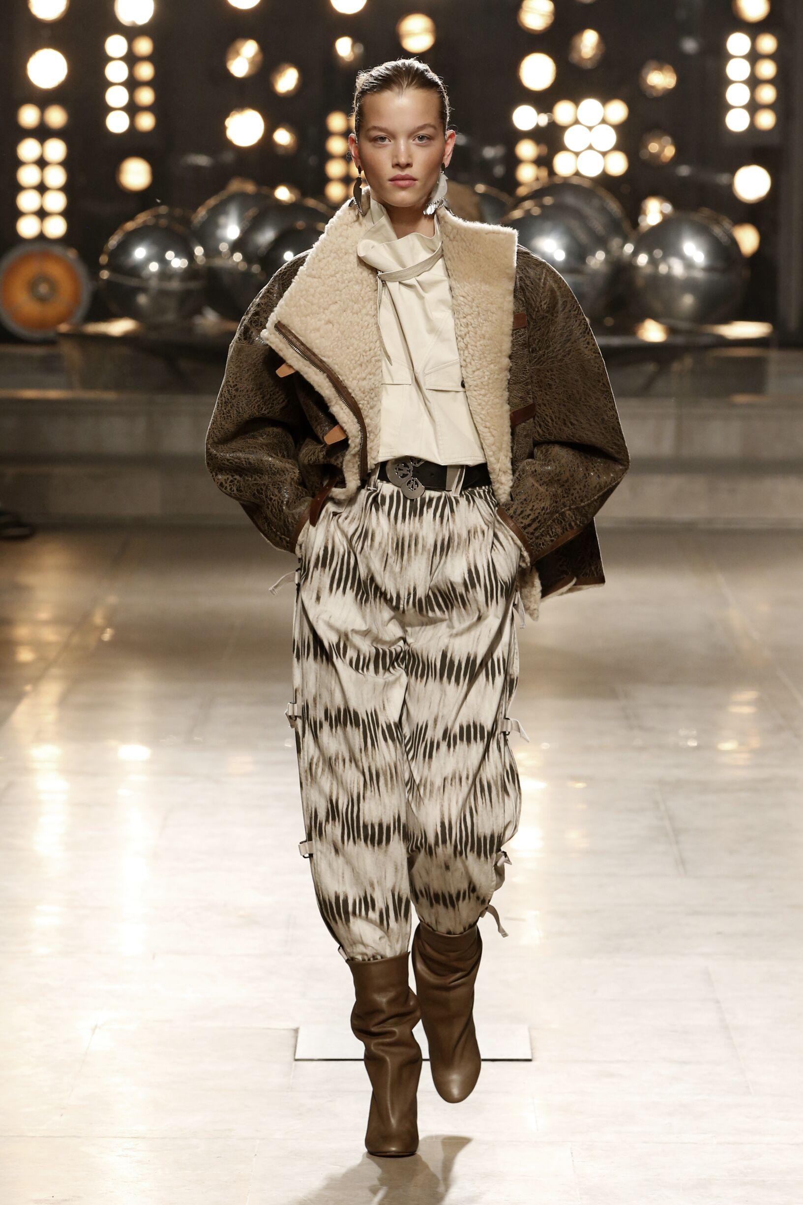 Fashion Show Woman Model Isabel Marant Catwalk