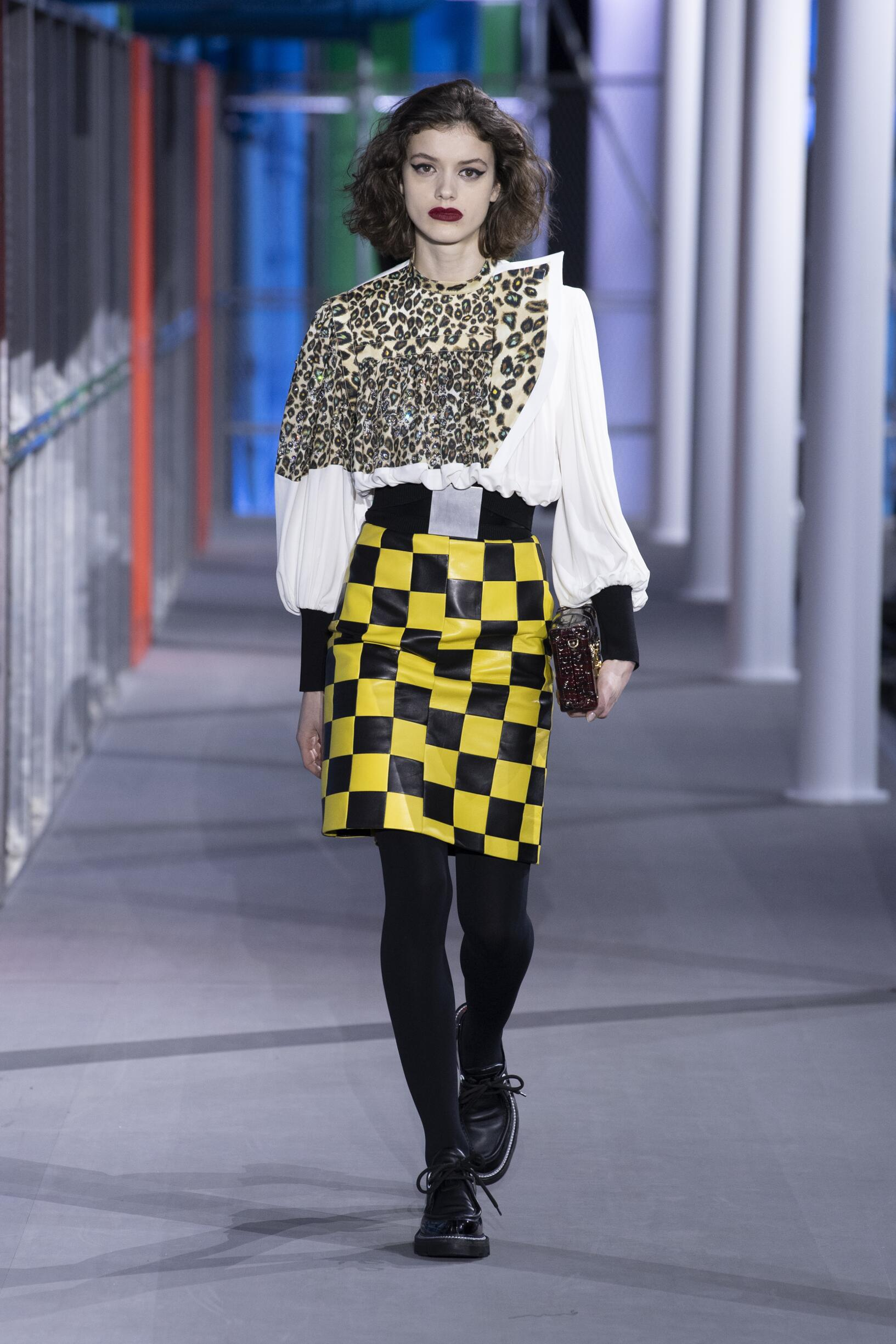 Fashion Show Woman Model Louis Vuitton Catwalk