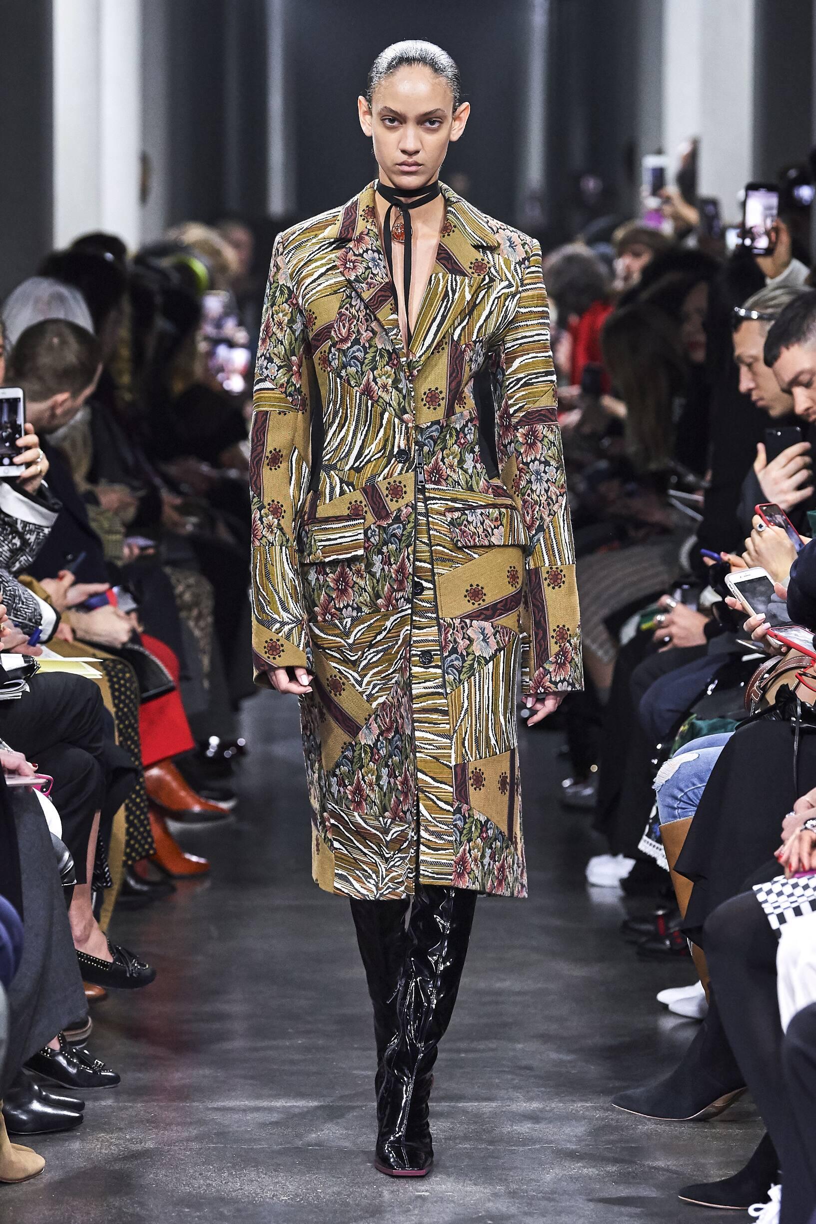 Fashion Show Woman Model Mugler Catwalk