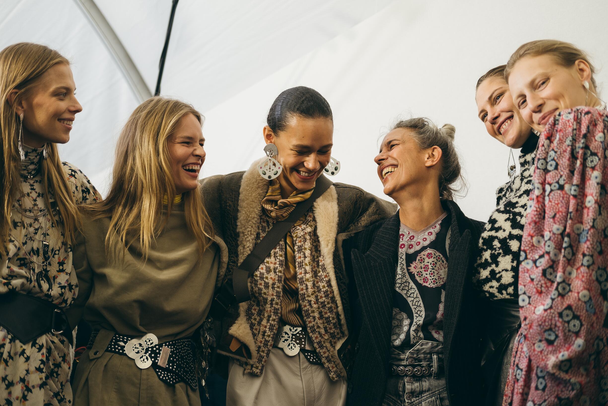 Isabel Marant with Models 2019