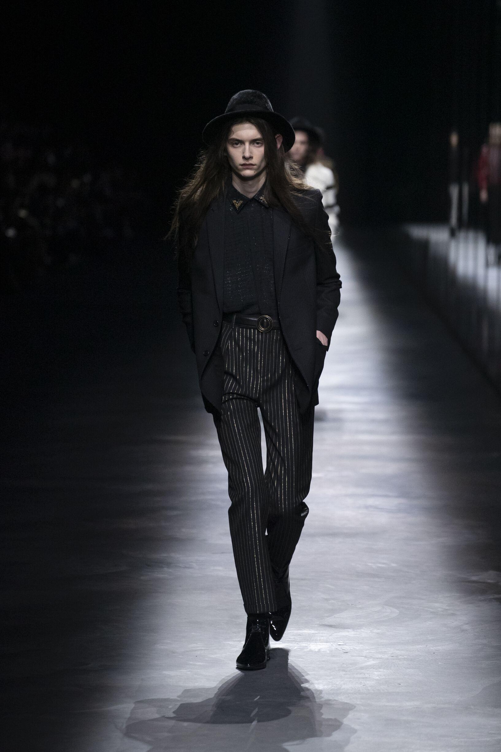 Man Fashion 2019 Runway Saint Laurent Winter