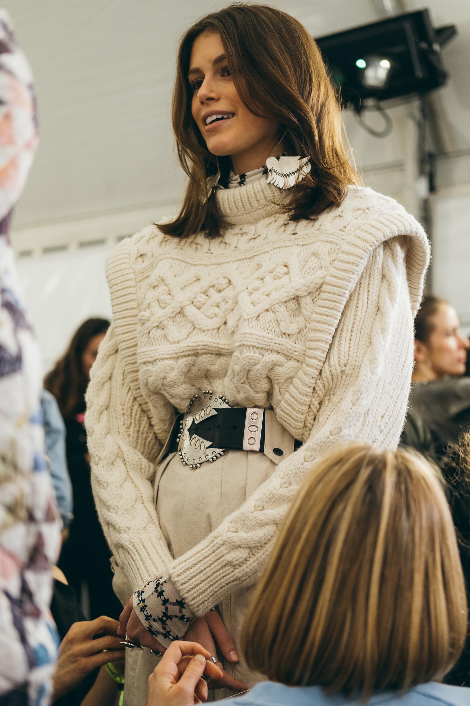 Model 2019 Backstage Isabel Marant