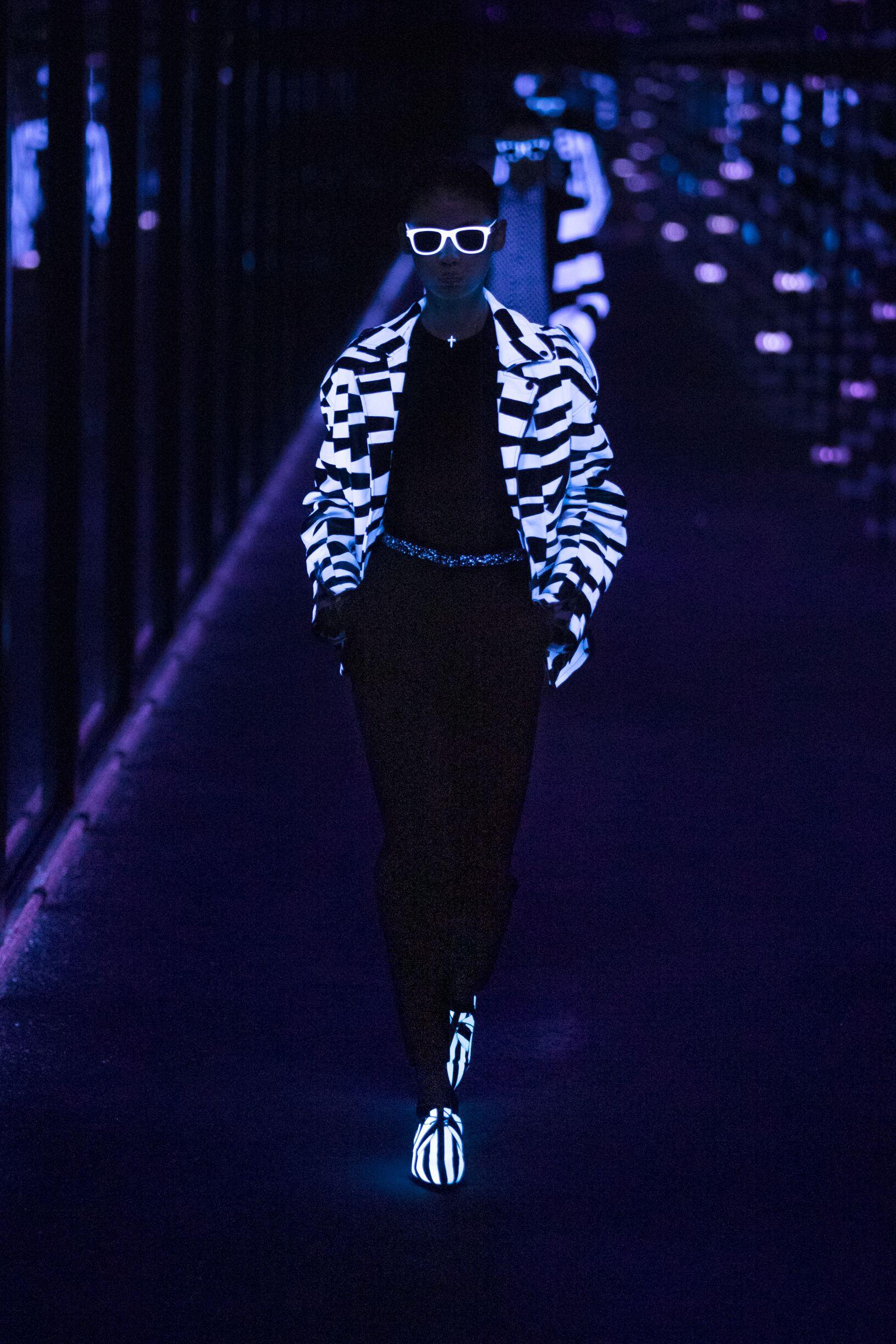 Model Fashion Week 2019 Catwalk Saint Laurent