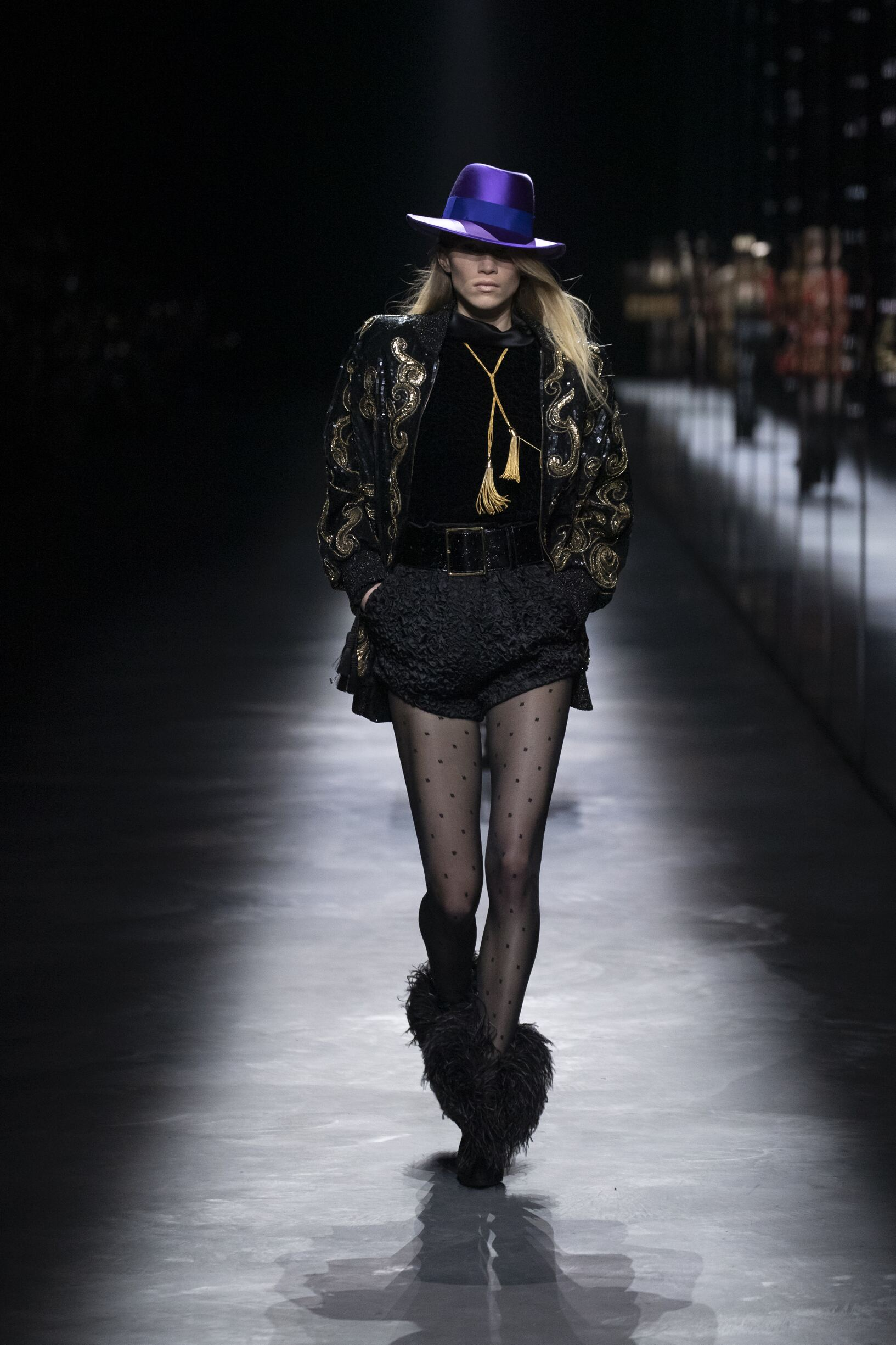 Runway Saint Laurent Fall Winter 2019 Collection Paris Fashion Week
