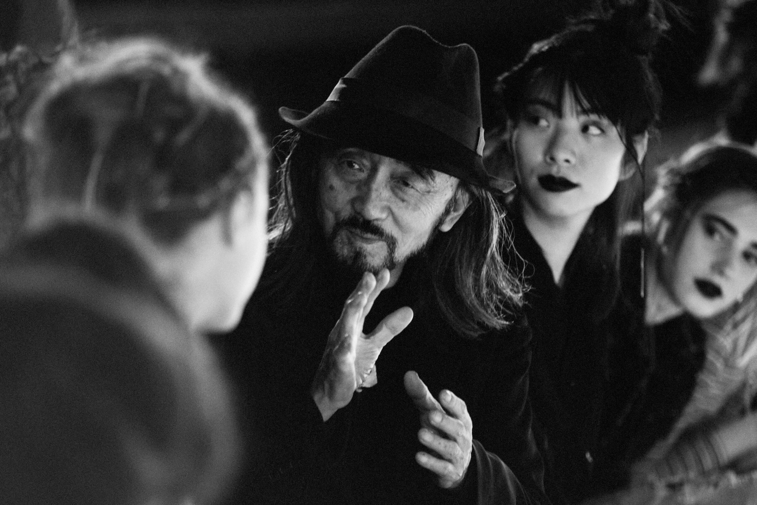 Yohji Yamamoto with Models