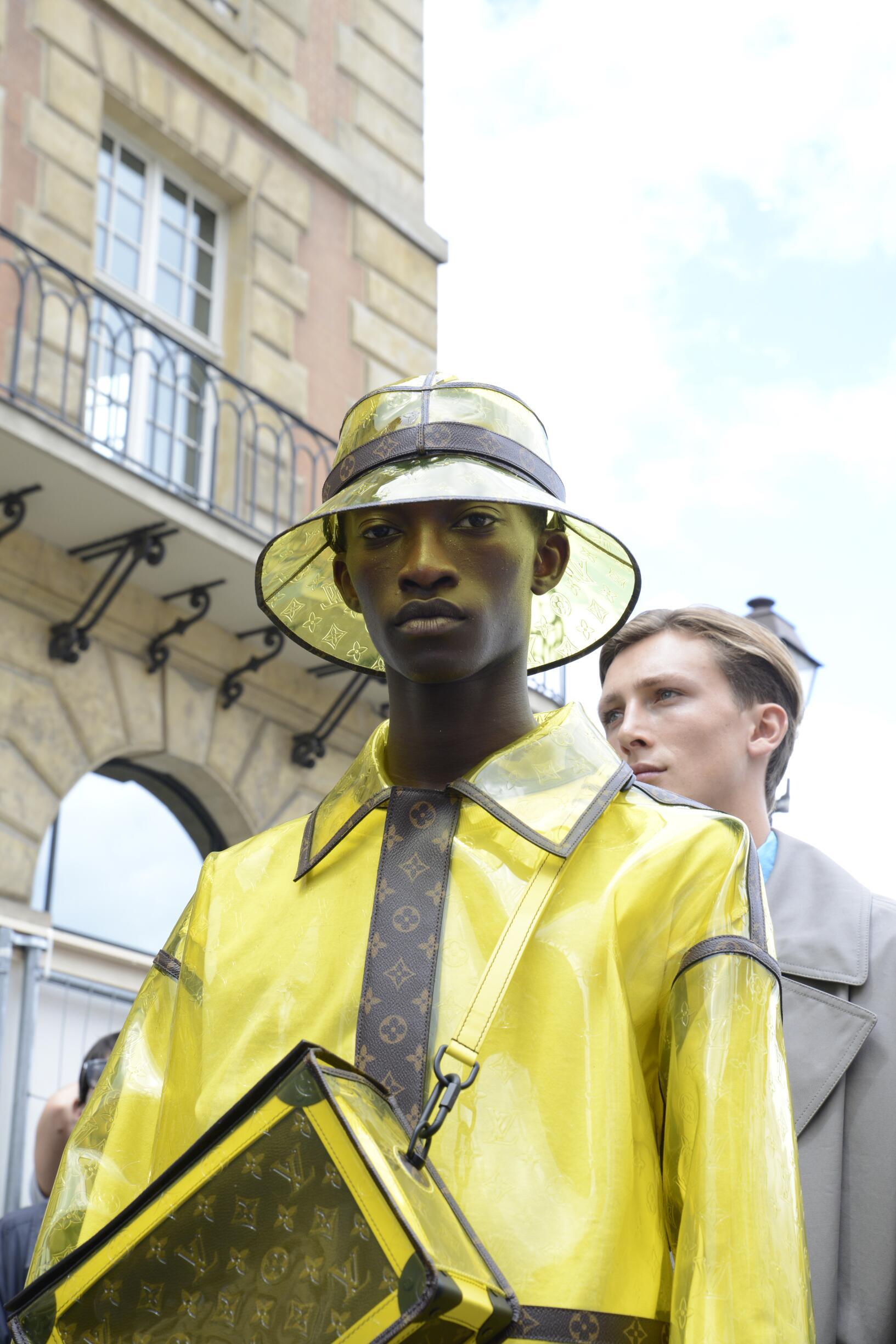 Backstage Louis Vuitton Paris Fashion Week Model