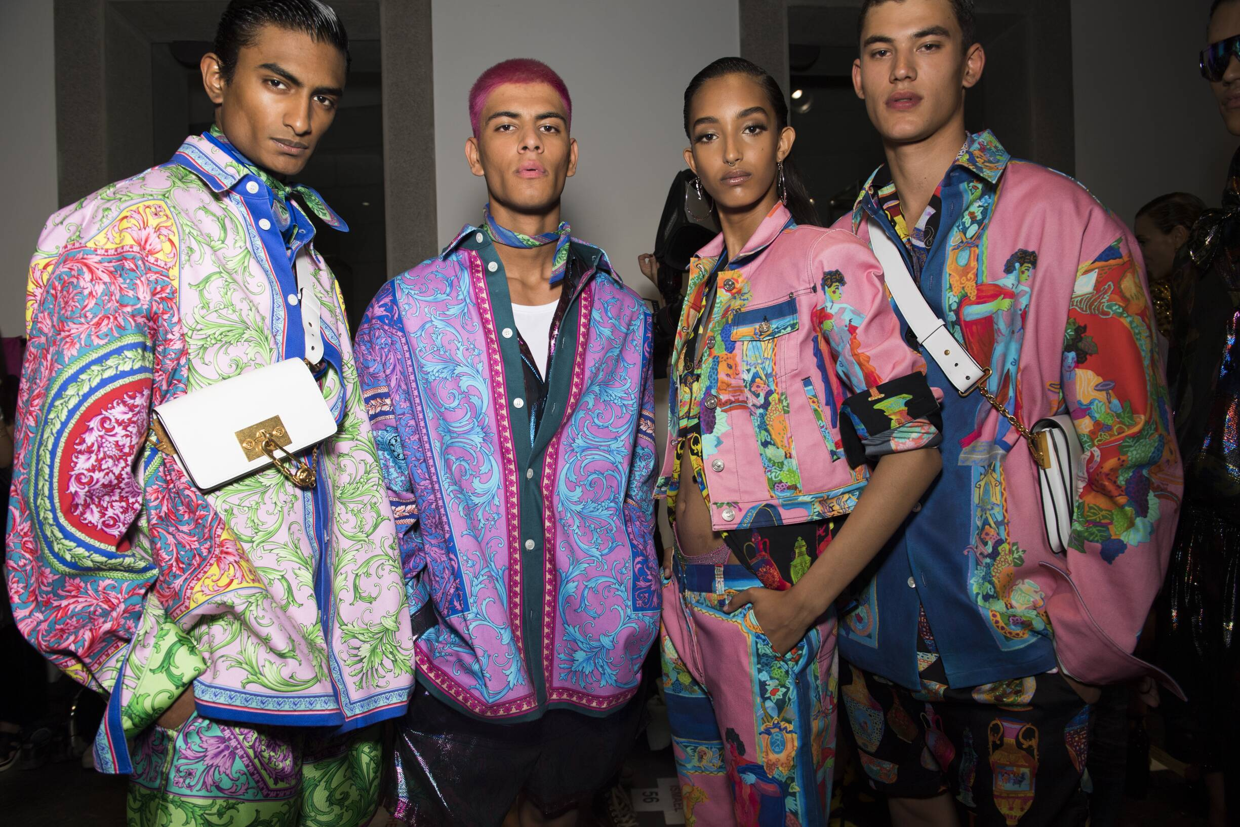 Backstage Versace Models 2020