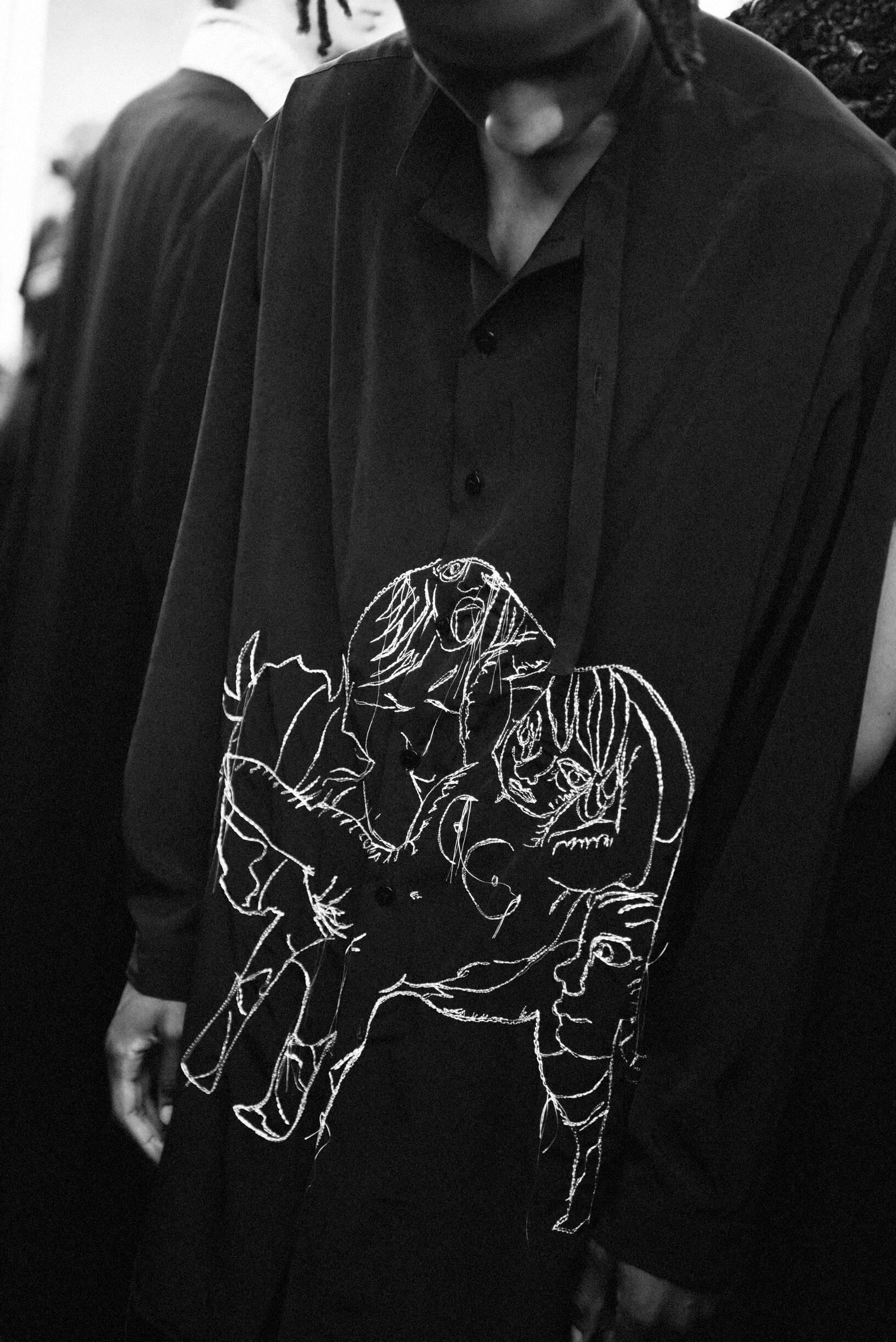 Backstage Yohji Yamamoto Detail 2020