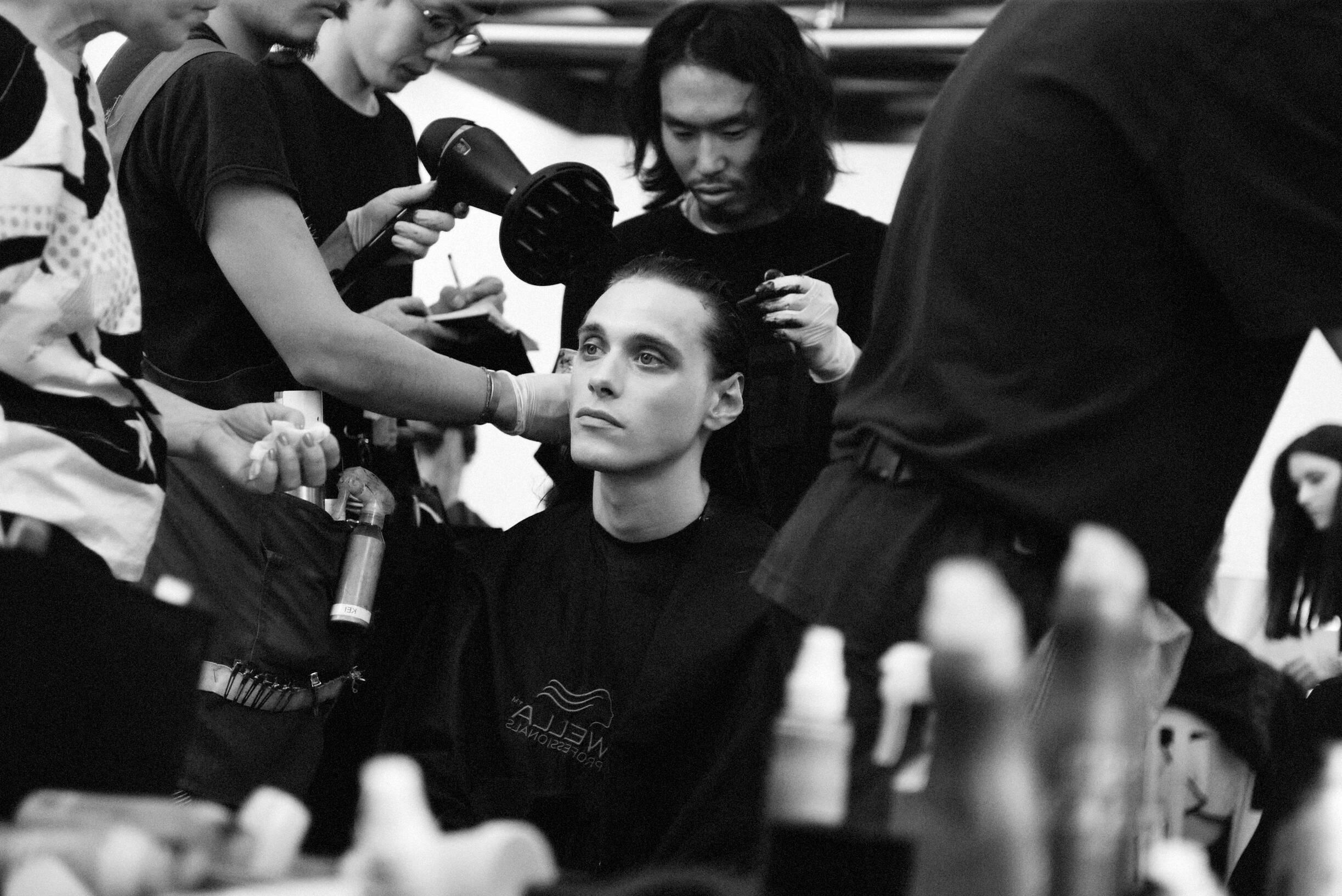 Backstage Yohji Yamamoto Hairstyle 2020