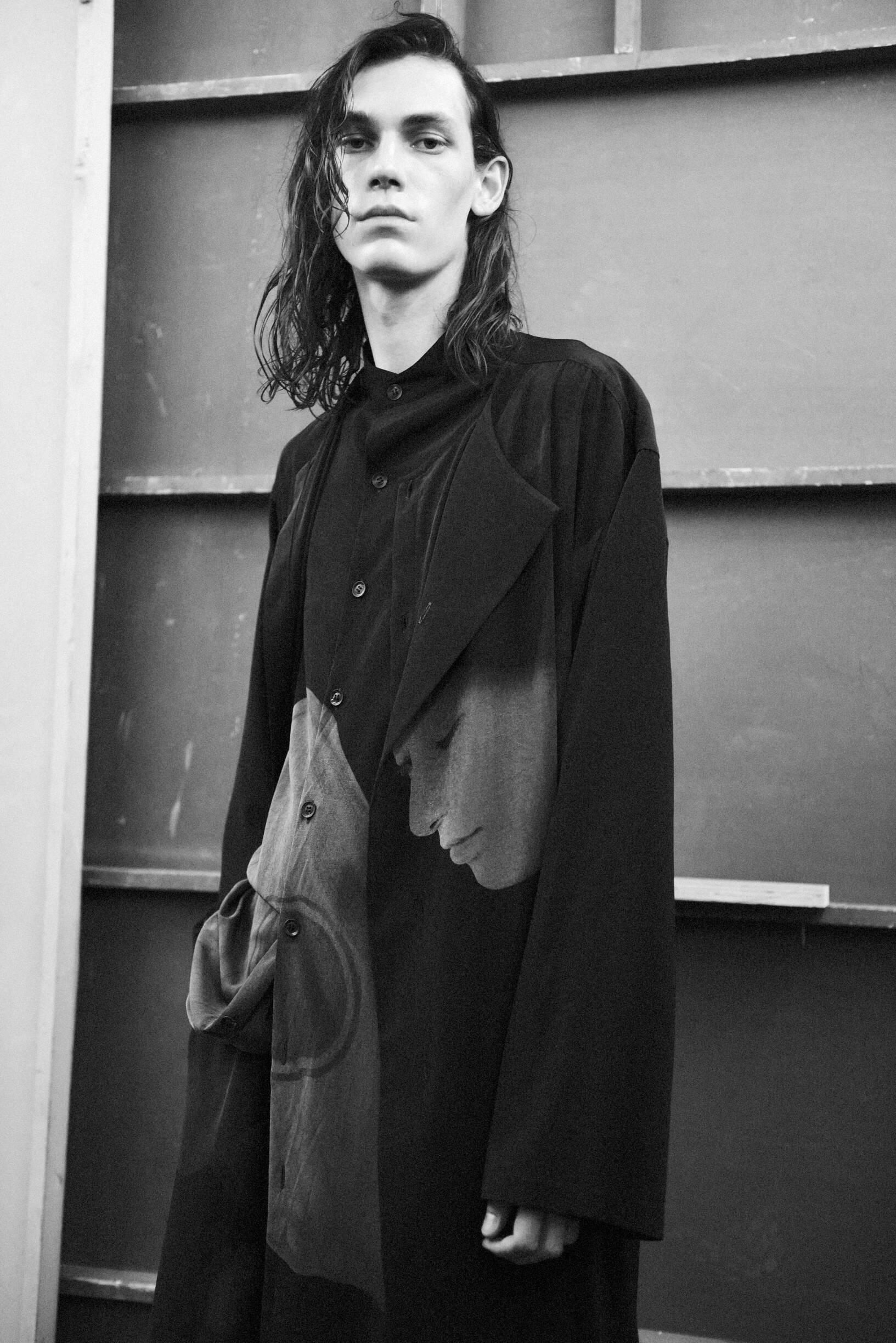 Backstage Yohji Yamamoto Model 2020 Style