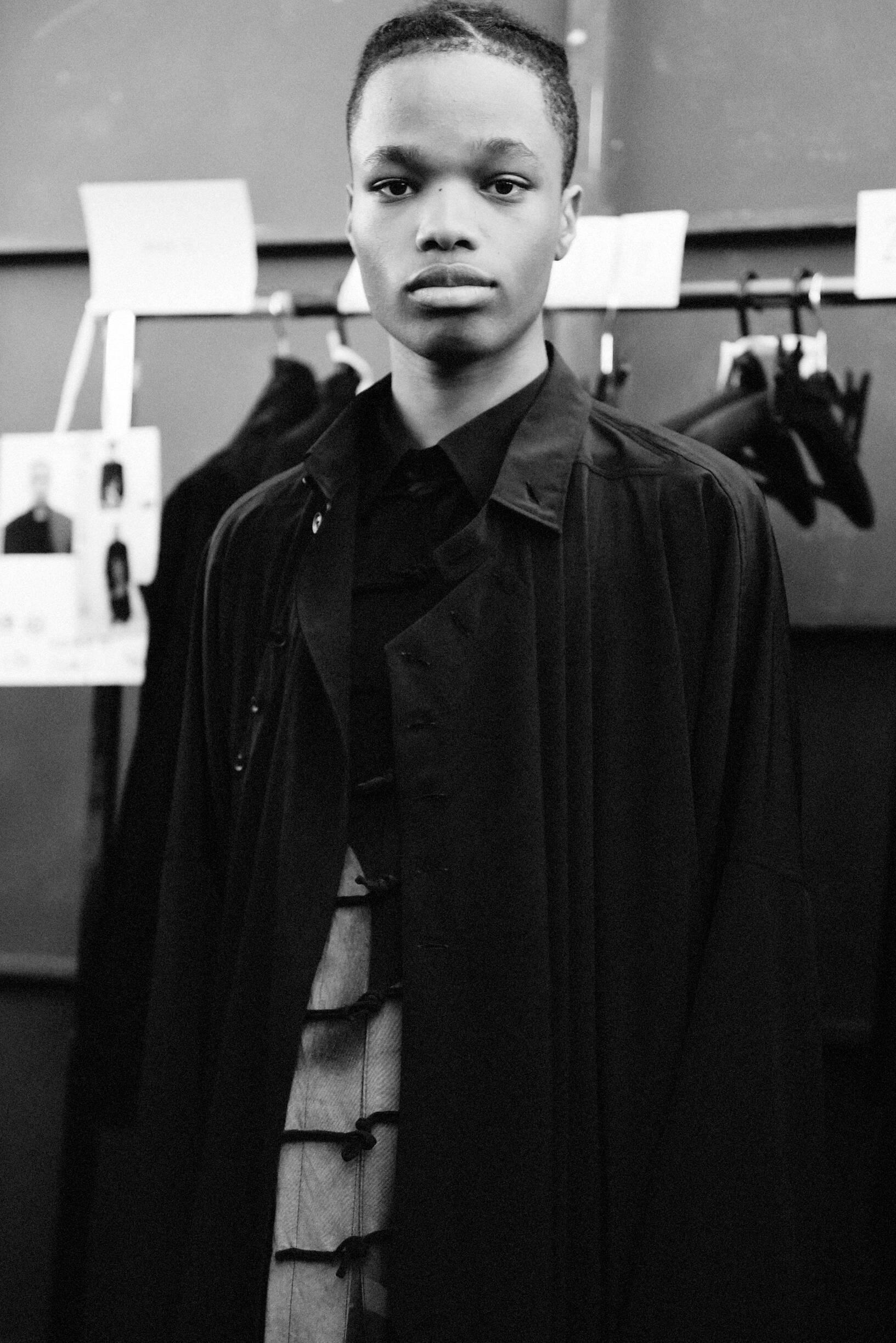 Backstage Yohji Yamamoto Model 2020
