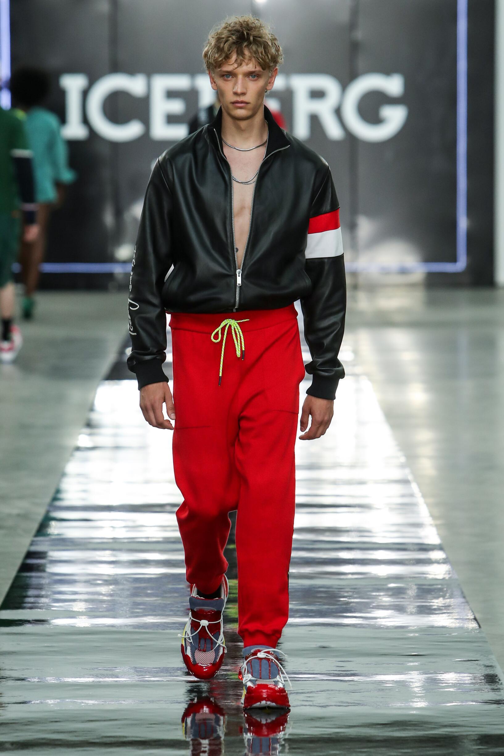Catwalk Iceberg Man Fashion Show Summer 2020