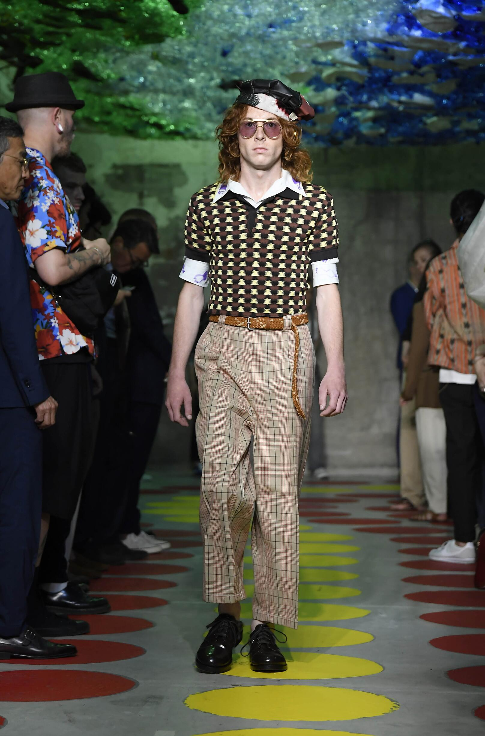 Catwalk Marni Man Fashion Show Summer 2020