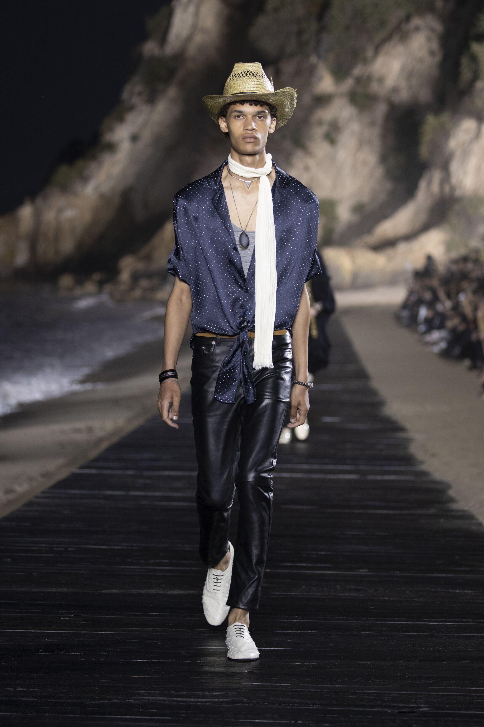 Catwalk Saint Laurent Man Fashion Show Summer 2020