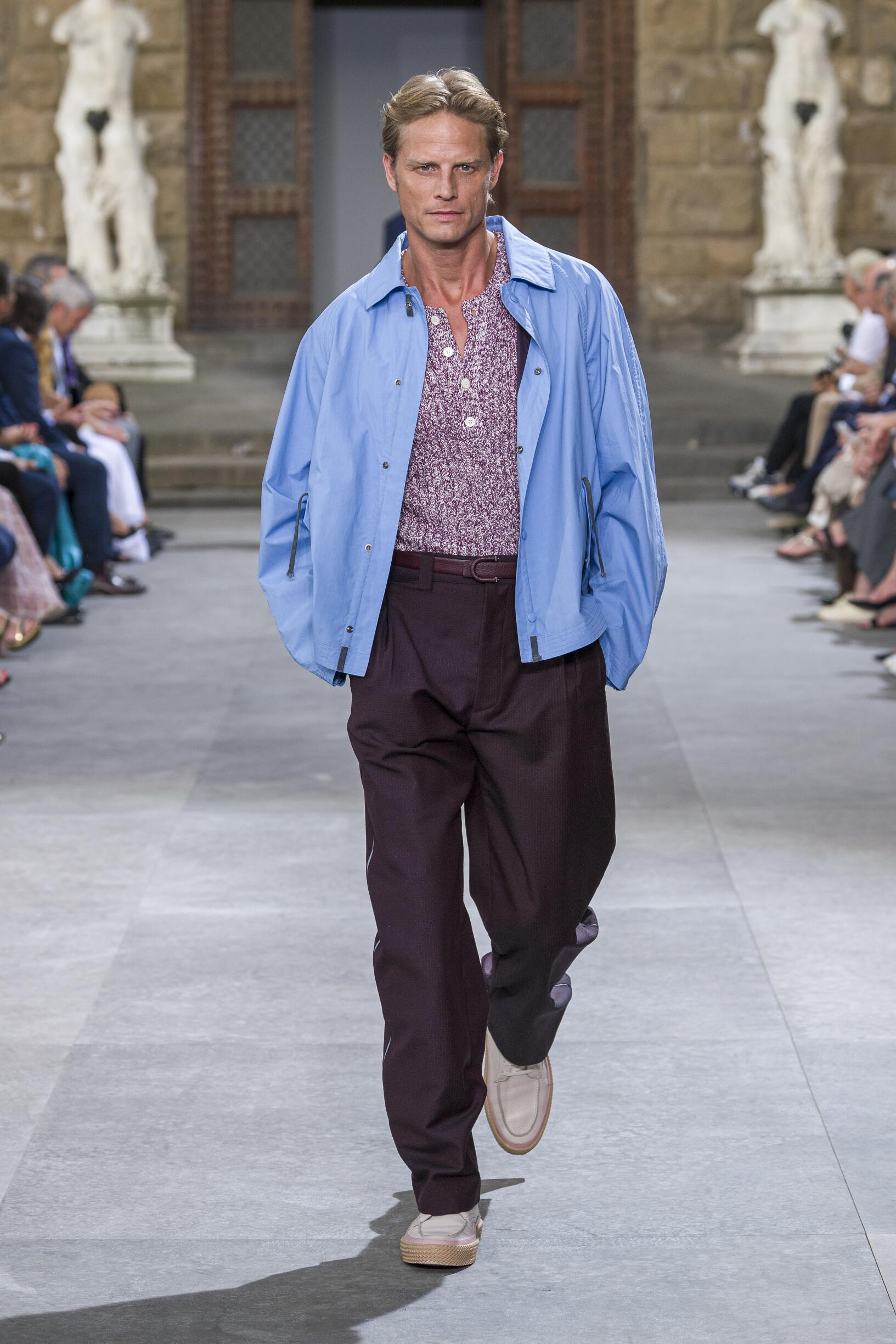 Catwalk Salvatore Ferragamo Man Fashion Show Summer 2020