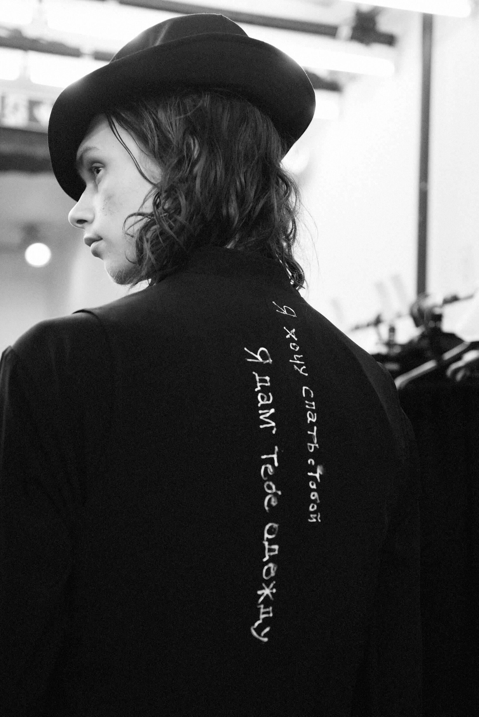 Detail Model Backstage Yohji Yamamoto