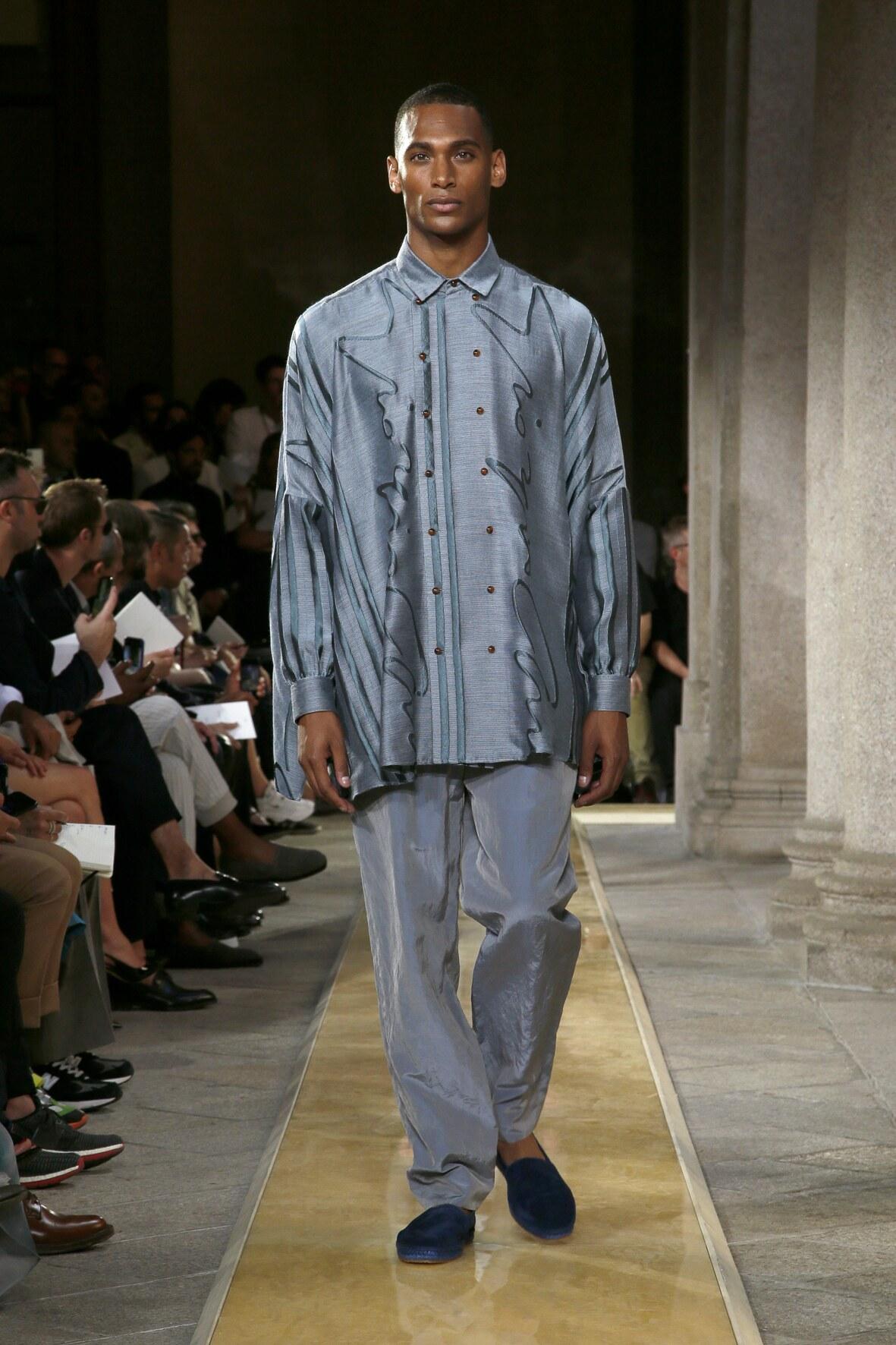 Fashion 2020 Catwalk Giorgio Armani Summer Mens Collection