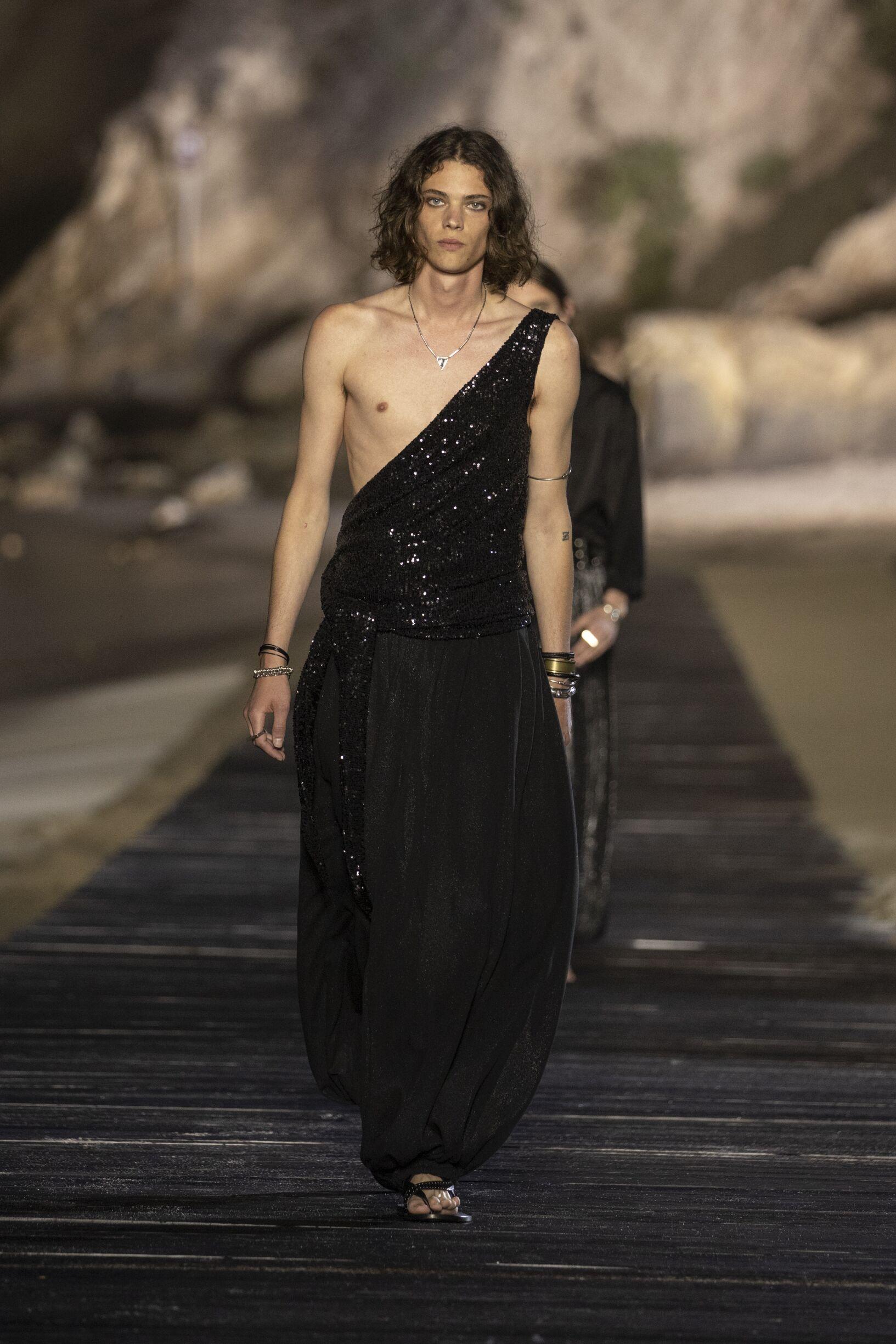 Fashion 2020 Catwalk Saint Laurent Summer Mens Collection