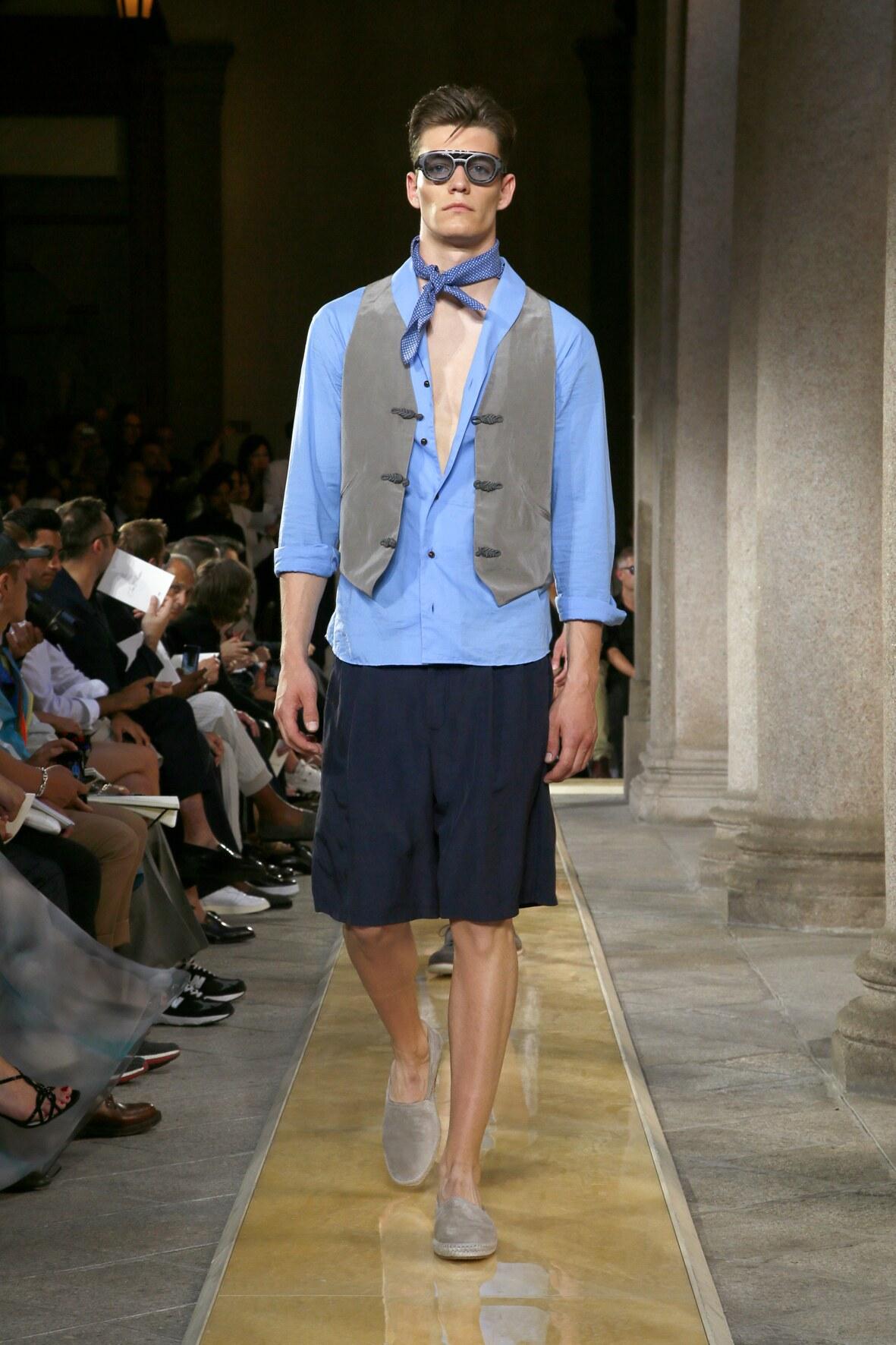 Fashion 2020 Runway Man Giorgio Armani Summer