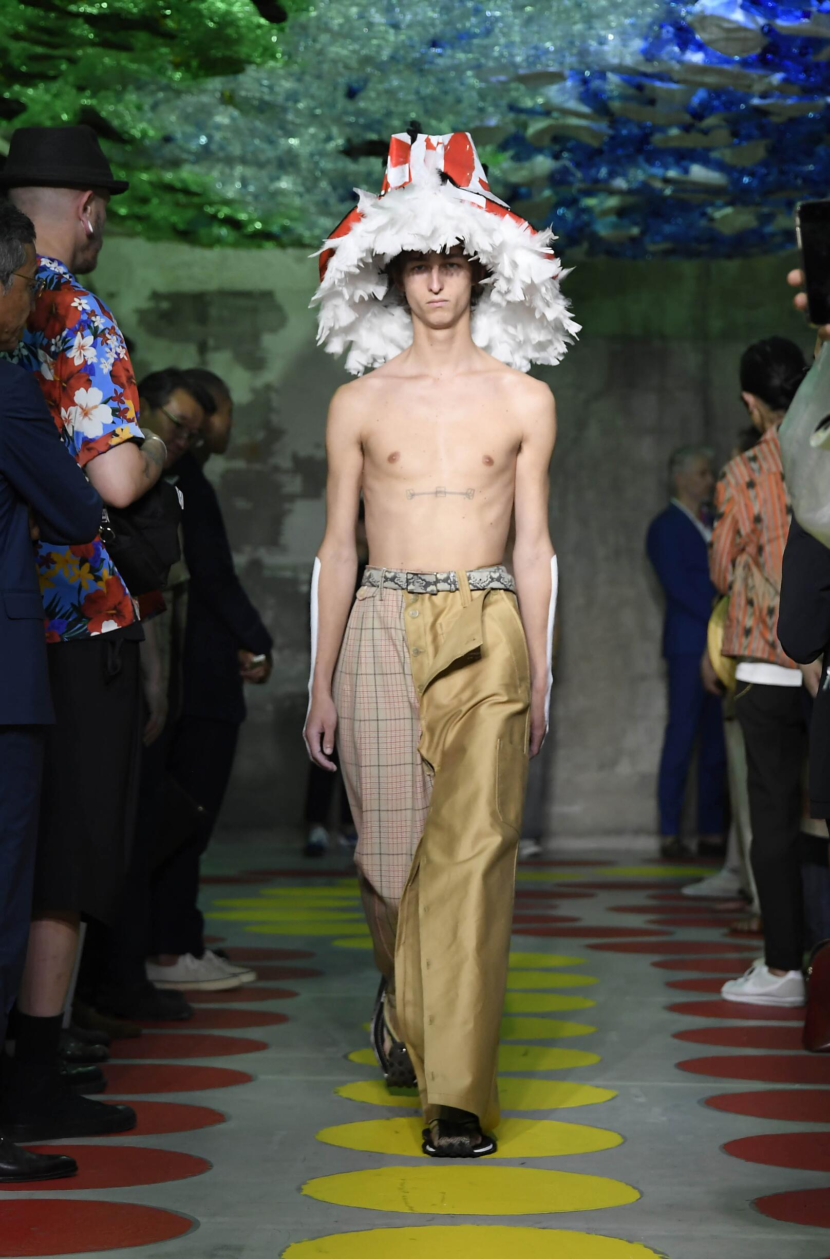Fashion 2020 Runway Man Marni Summer