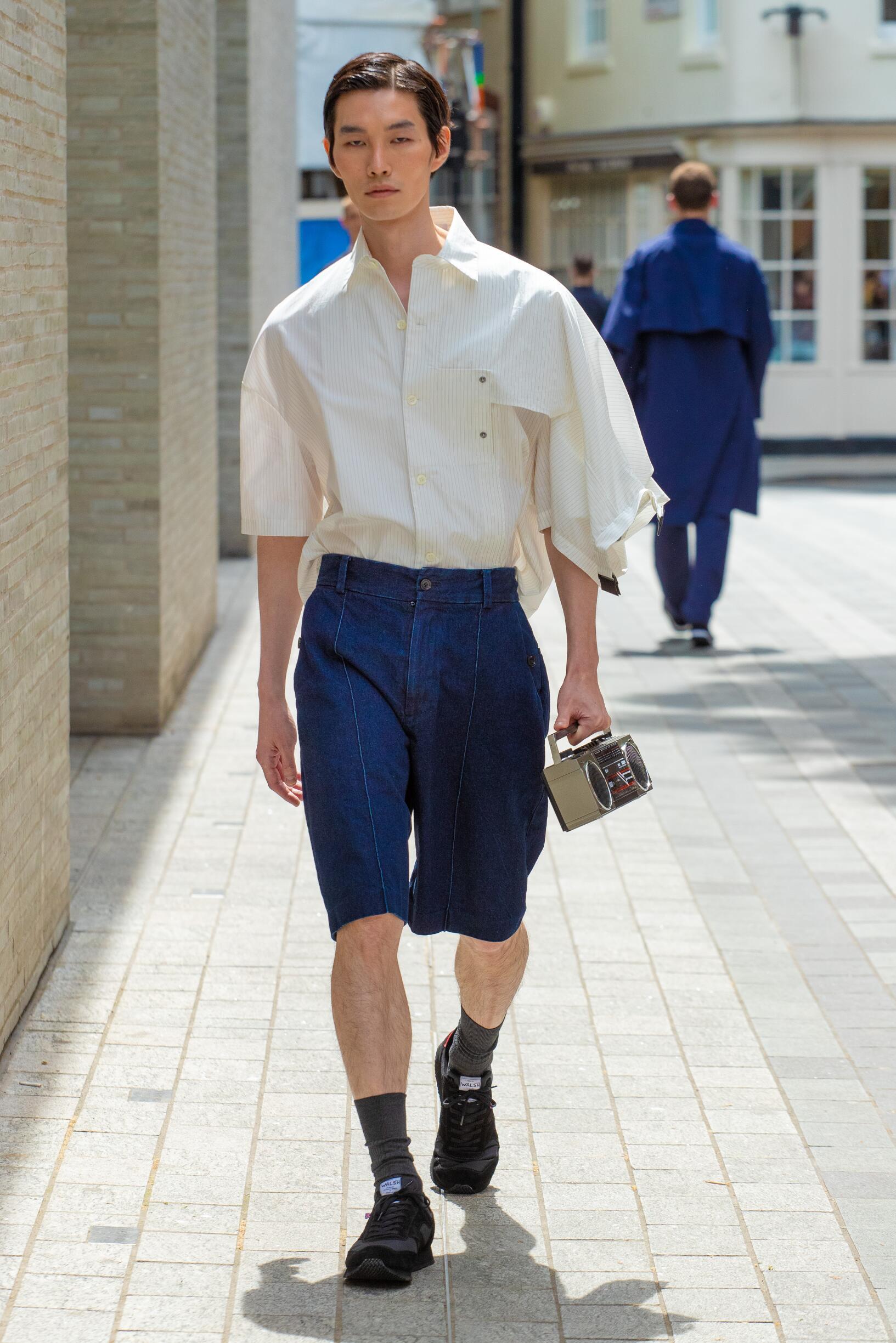 Fashion Man Model Chalayan Catwalk