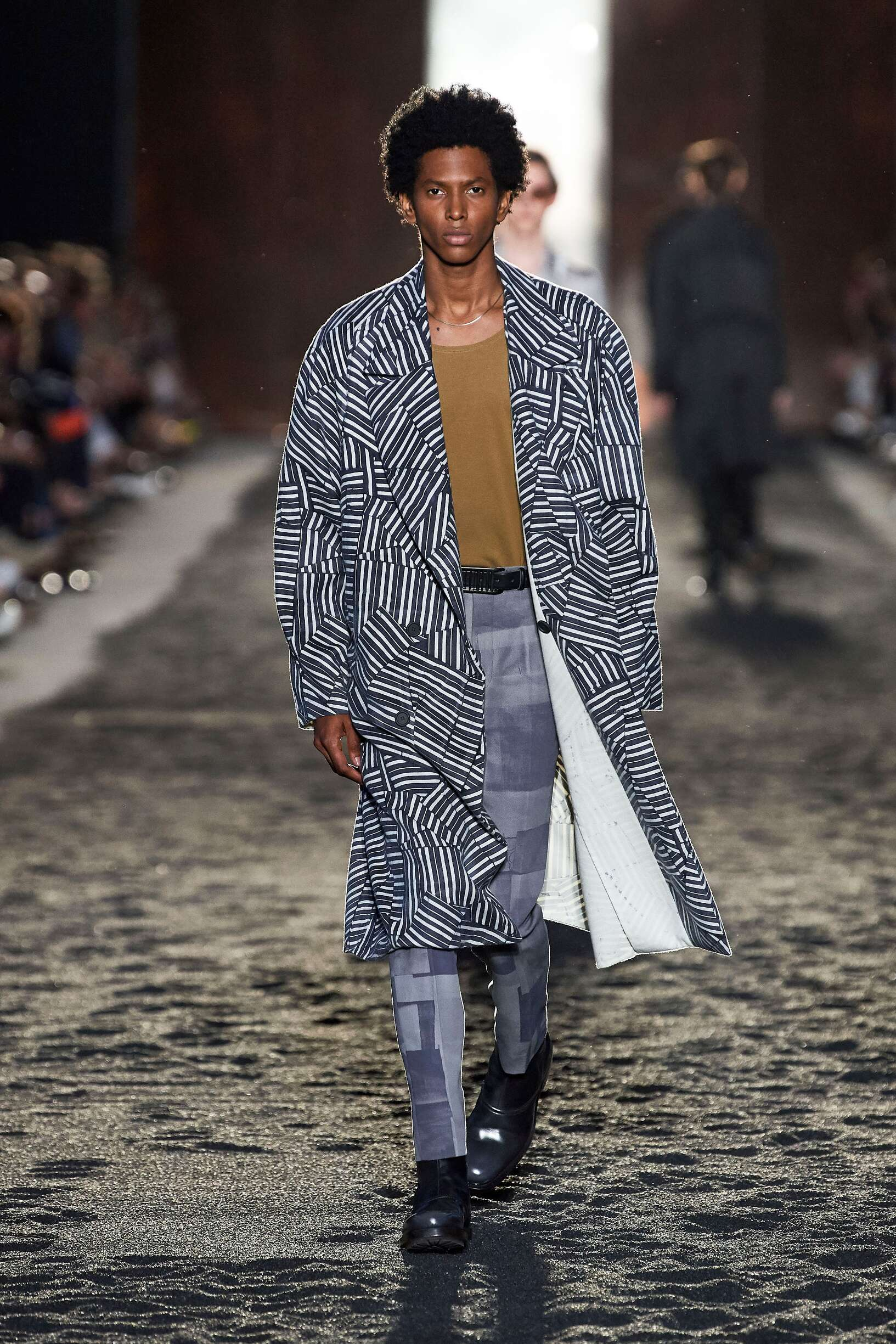 Fashion Man Model Ermenegildo Zegna XXX Catwalk