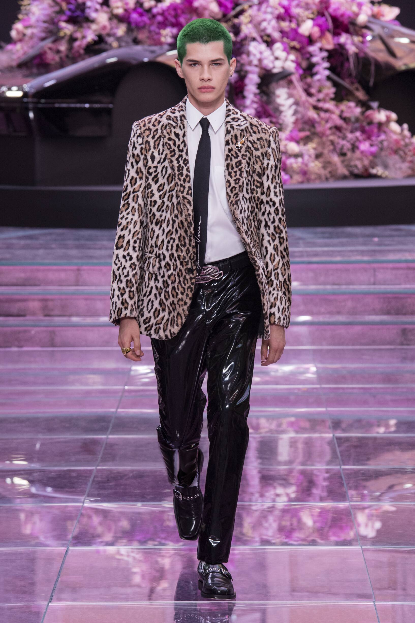 Fashion Man Model Versace Catwalk