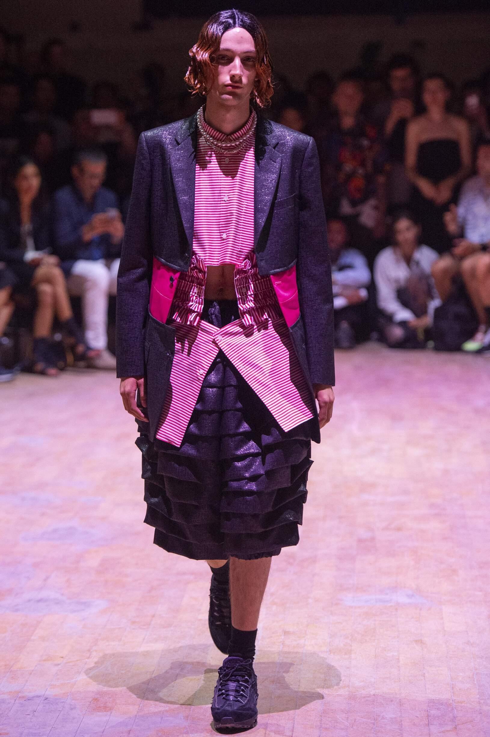 Fashion Model Comme des Garçons Homme Plus Catwalk
