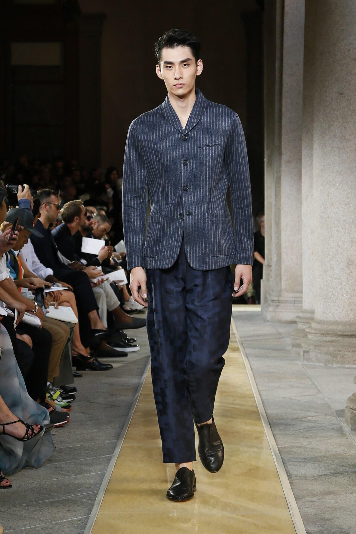 Fashion Model Giorgio Armani Catwalk