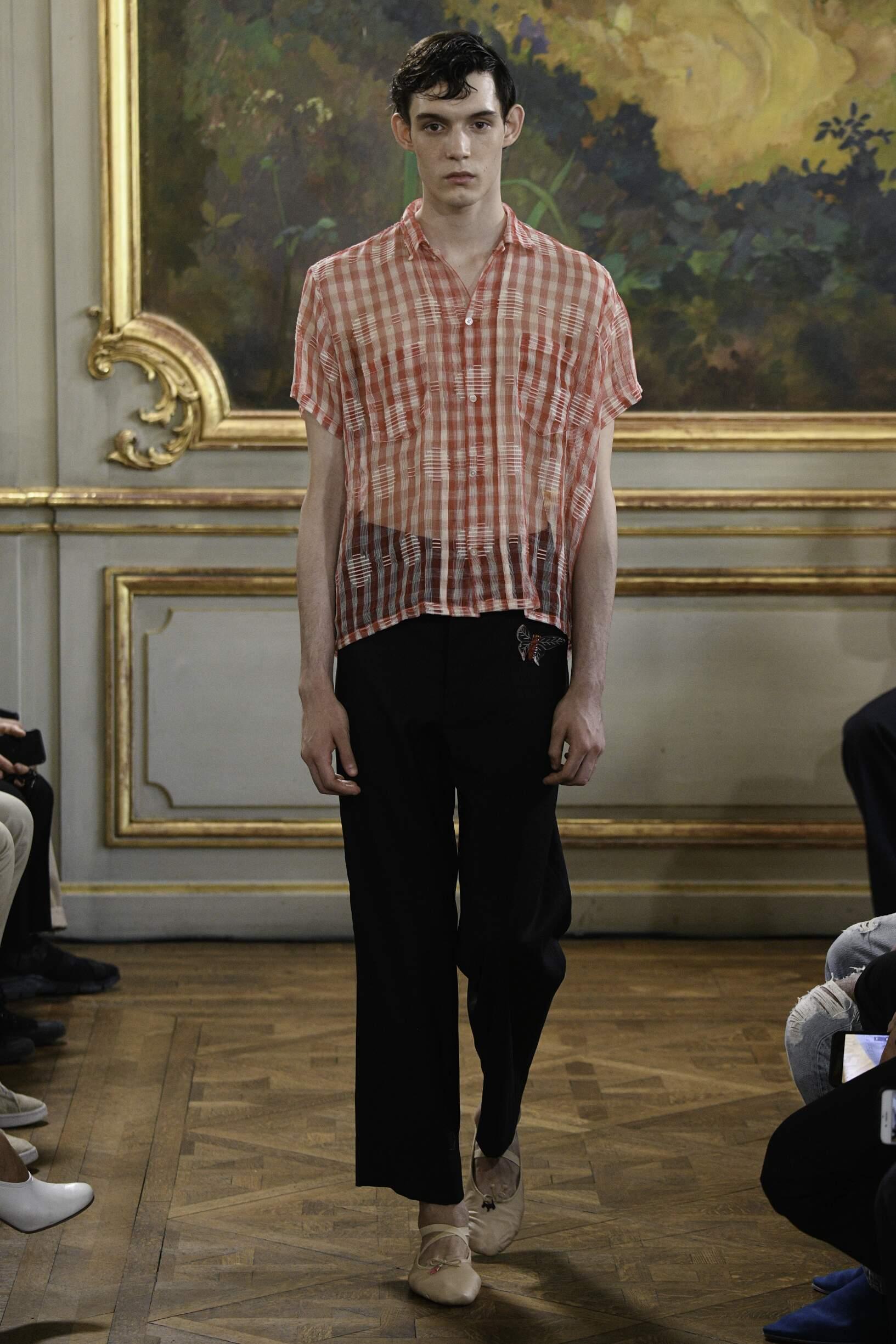 Fashion Model Man Bode Catwalk