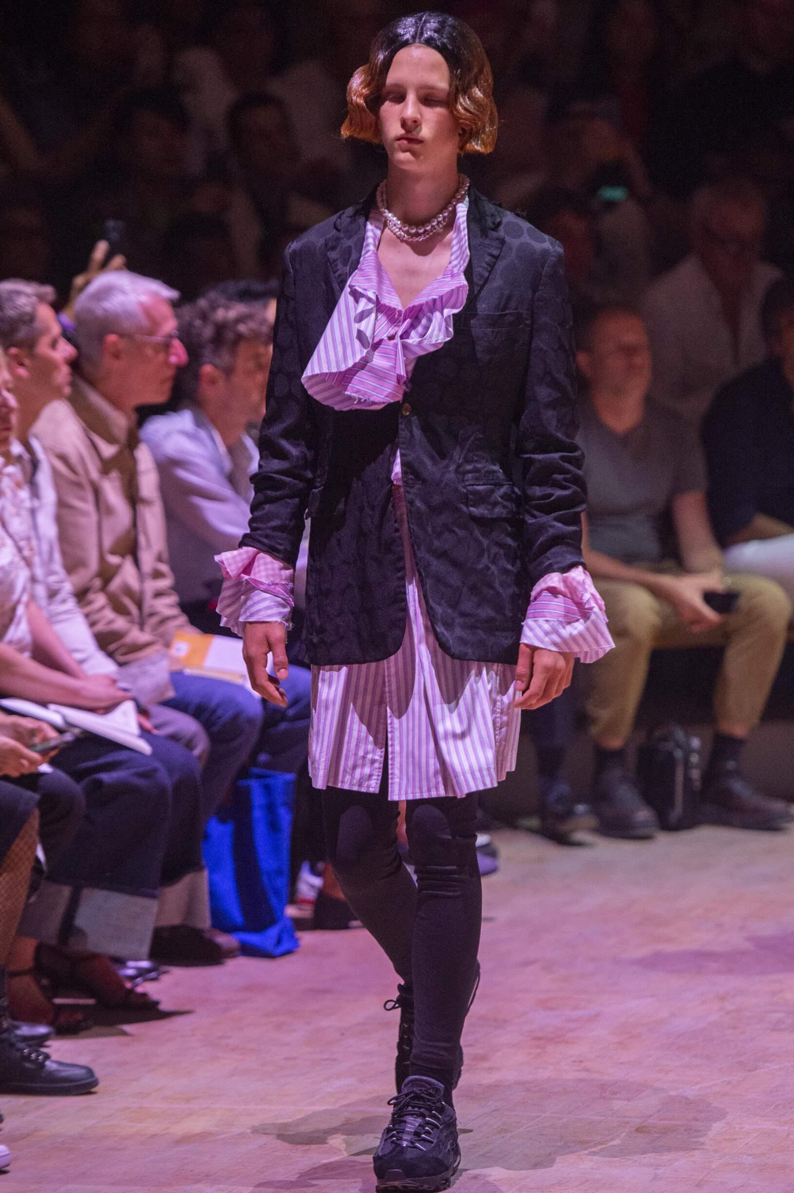 Fashion Model Man Comme des Garçons Homme Plus Catwalk
