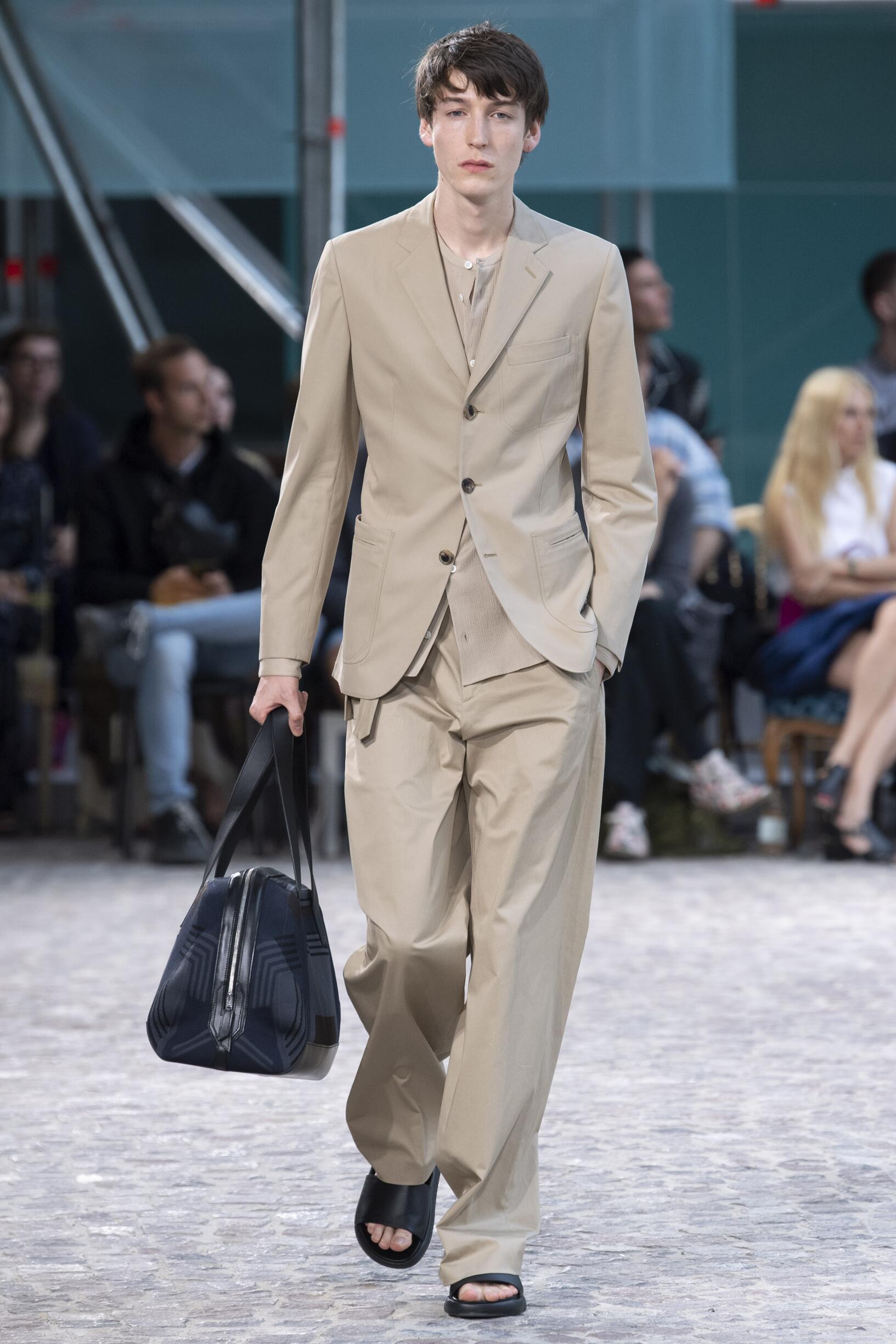 Fashion Model Man Hermès Catwalk
