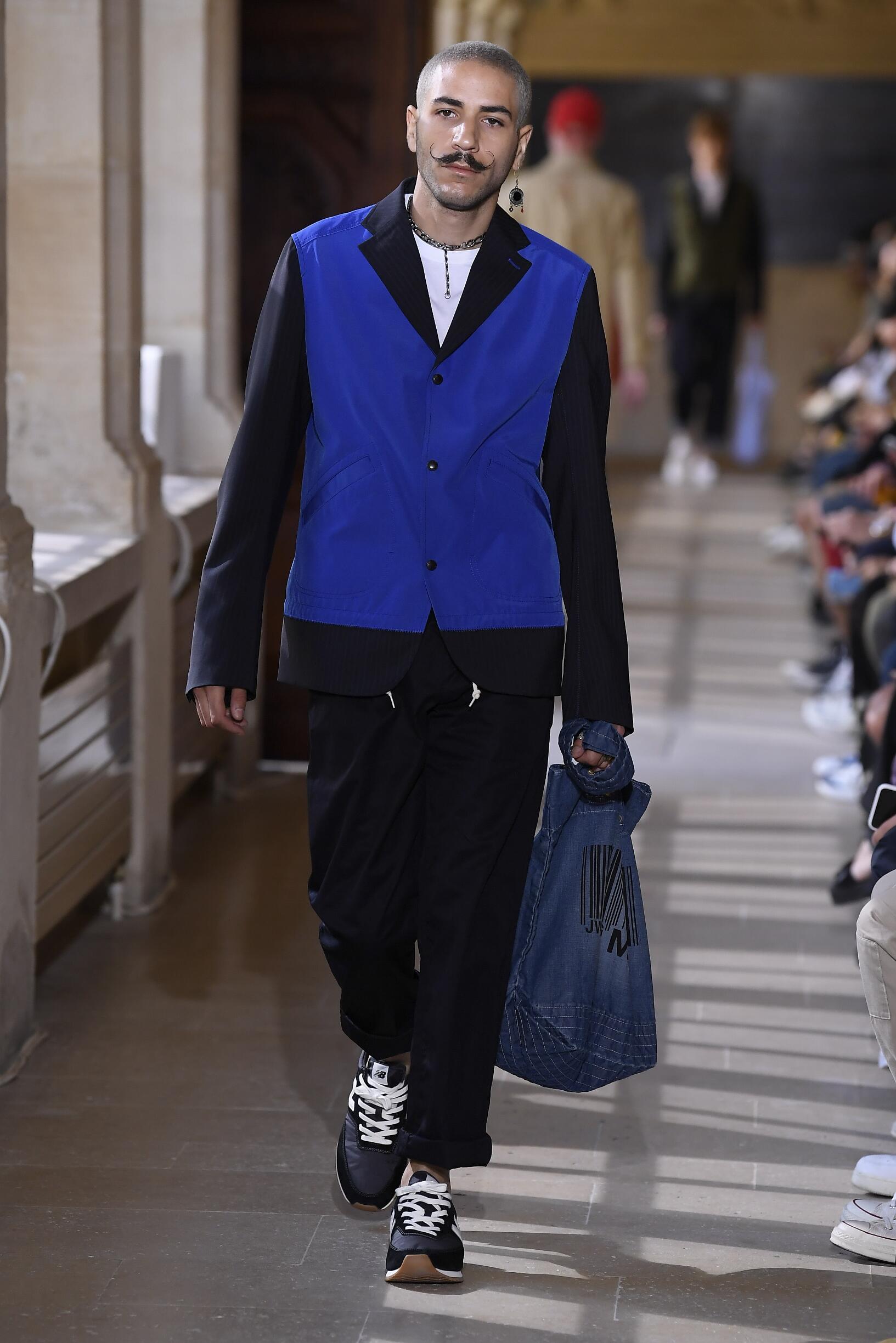 Fashion Model Man Junya Watanabe Catwalk