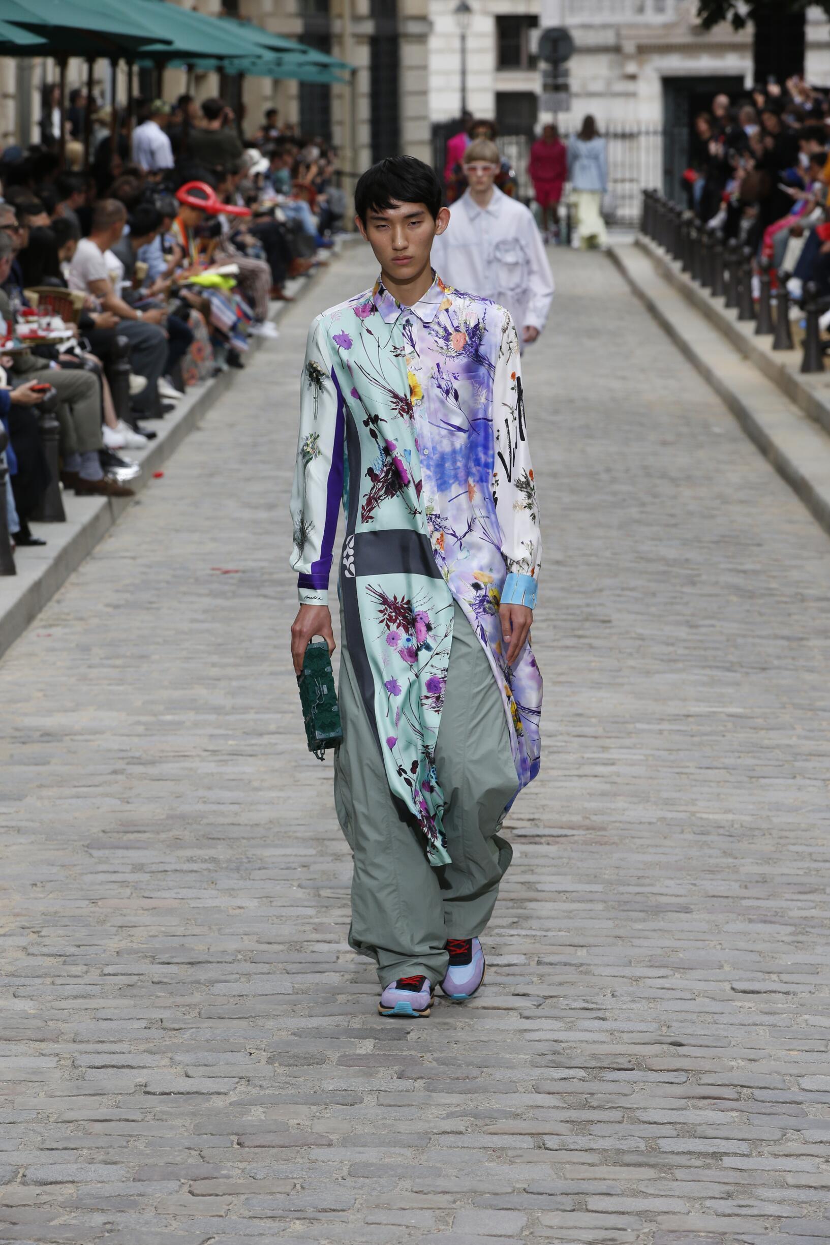 Fashion Model Man Louis Vuitton Catwalk