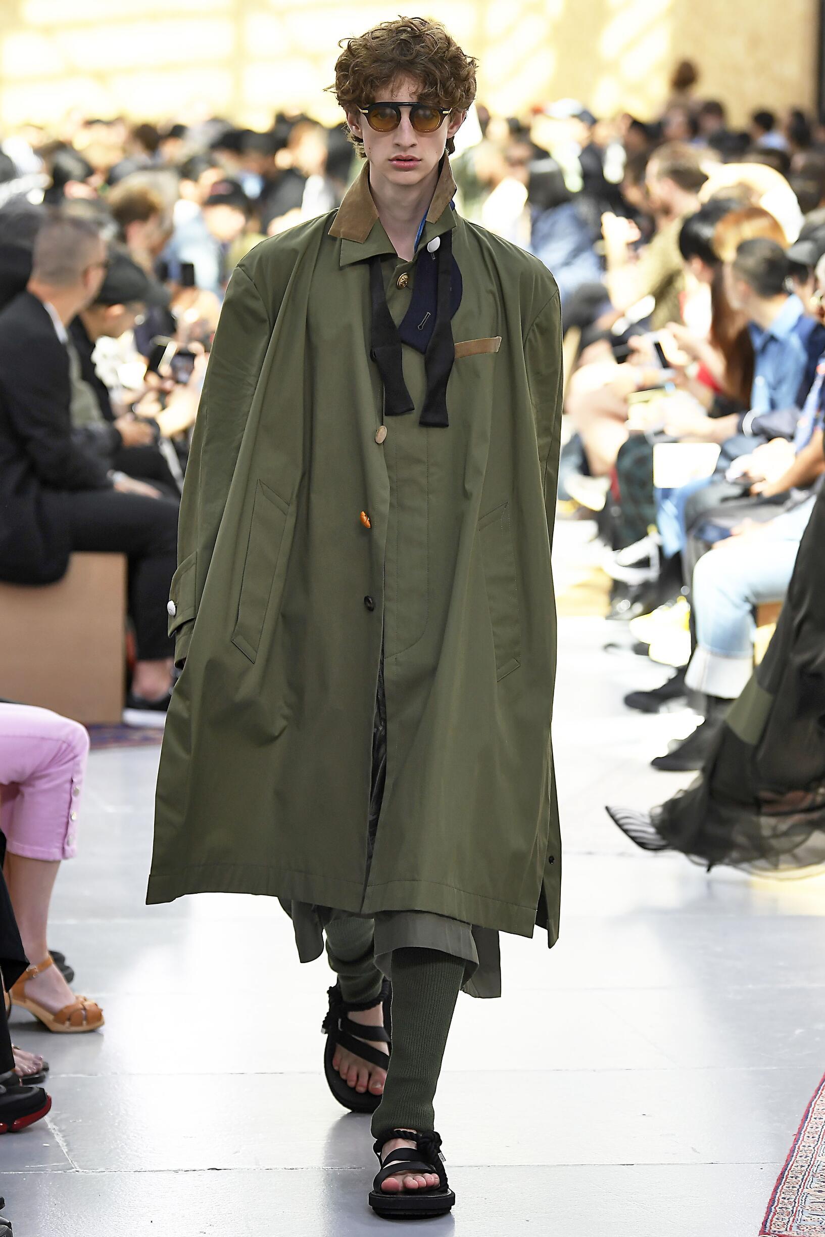 Fashion Model Man Sacai Catwalk