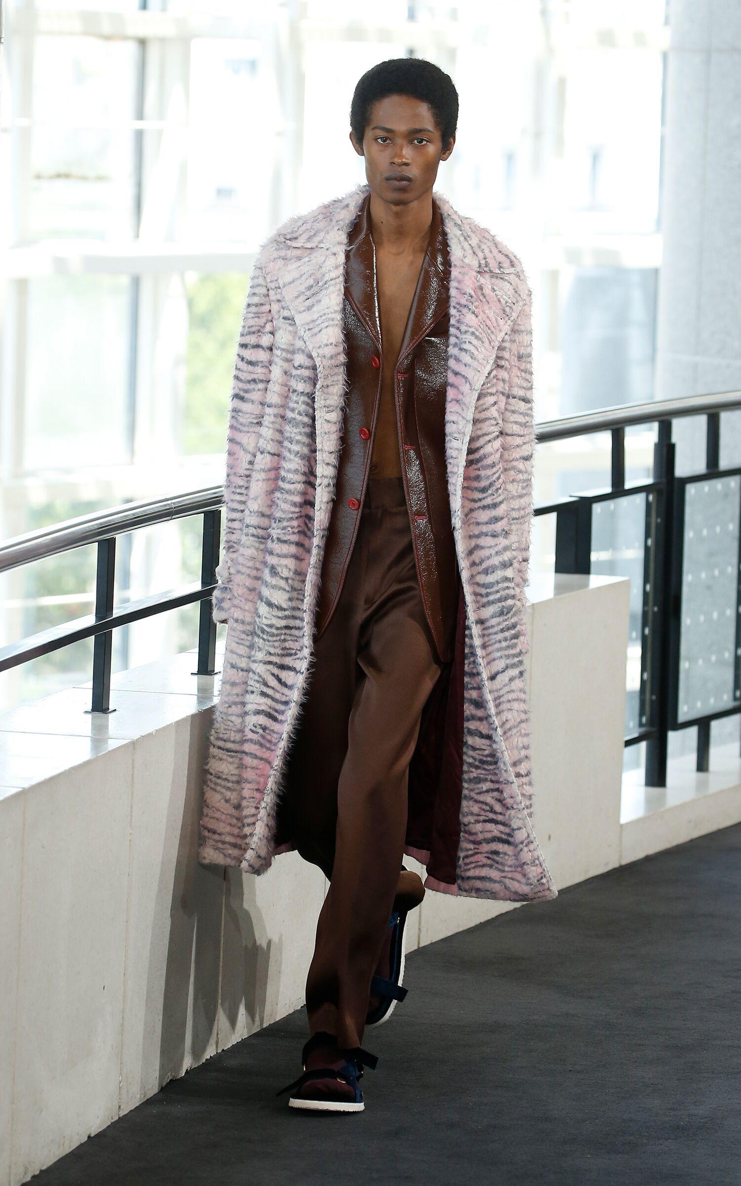 Fashion Model Man Sies Marjan Catwalk