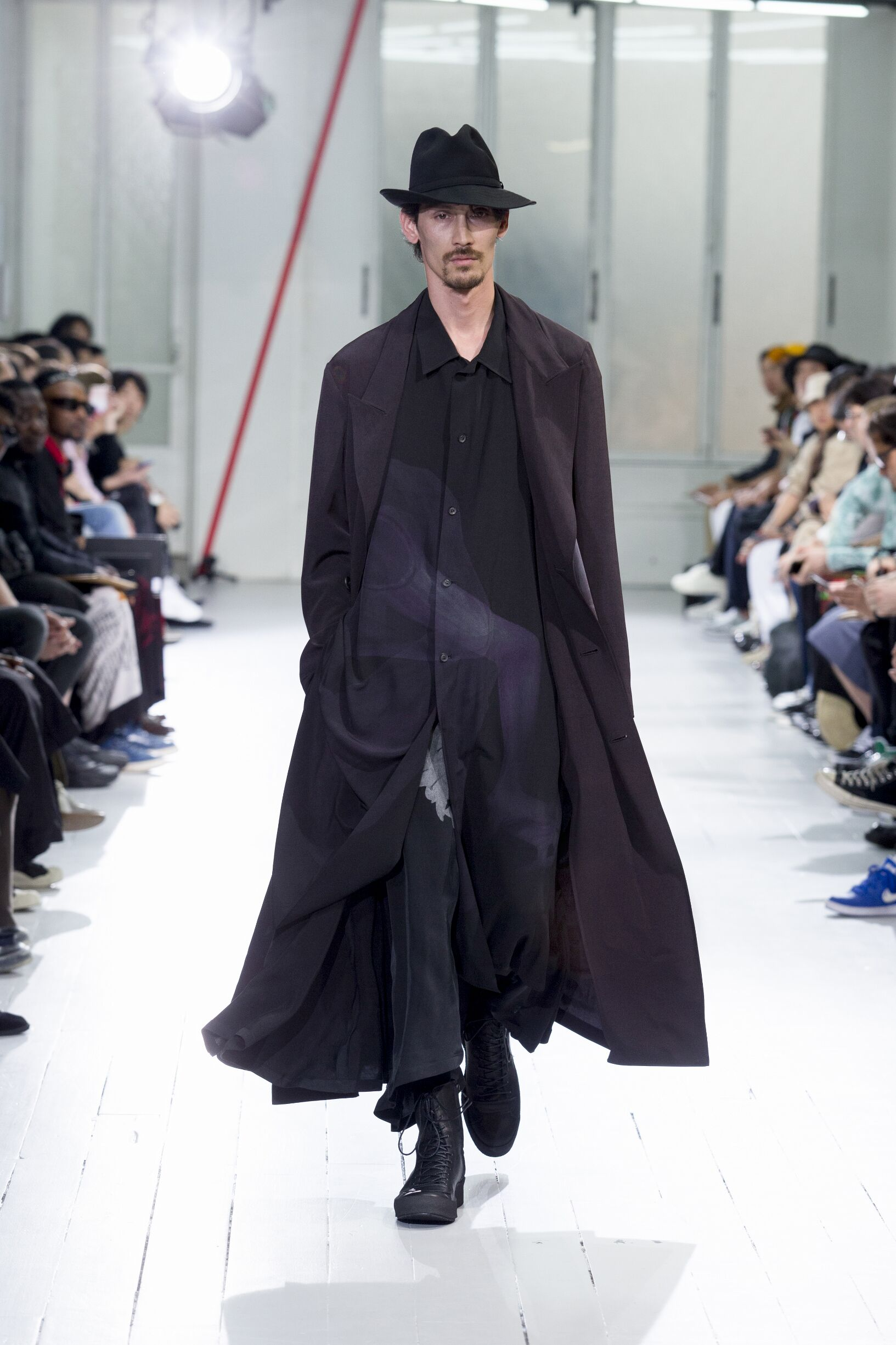 Fashion Model Man Yohji Yamamoto Catwalk