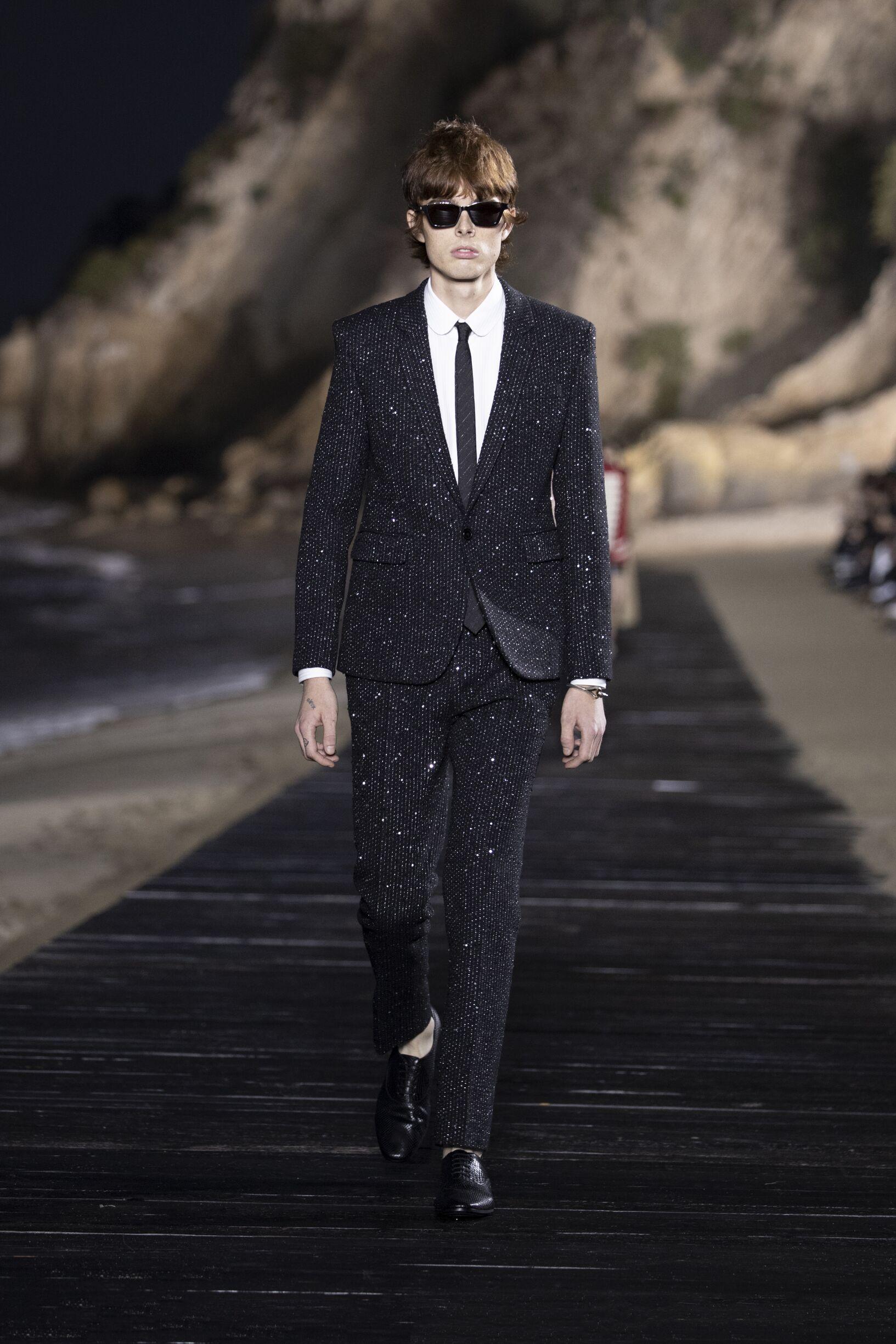 Fashion Model Saint Laurent Catwalk