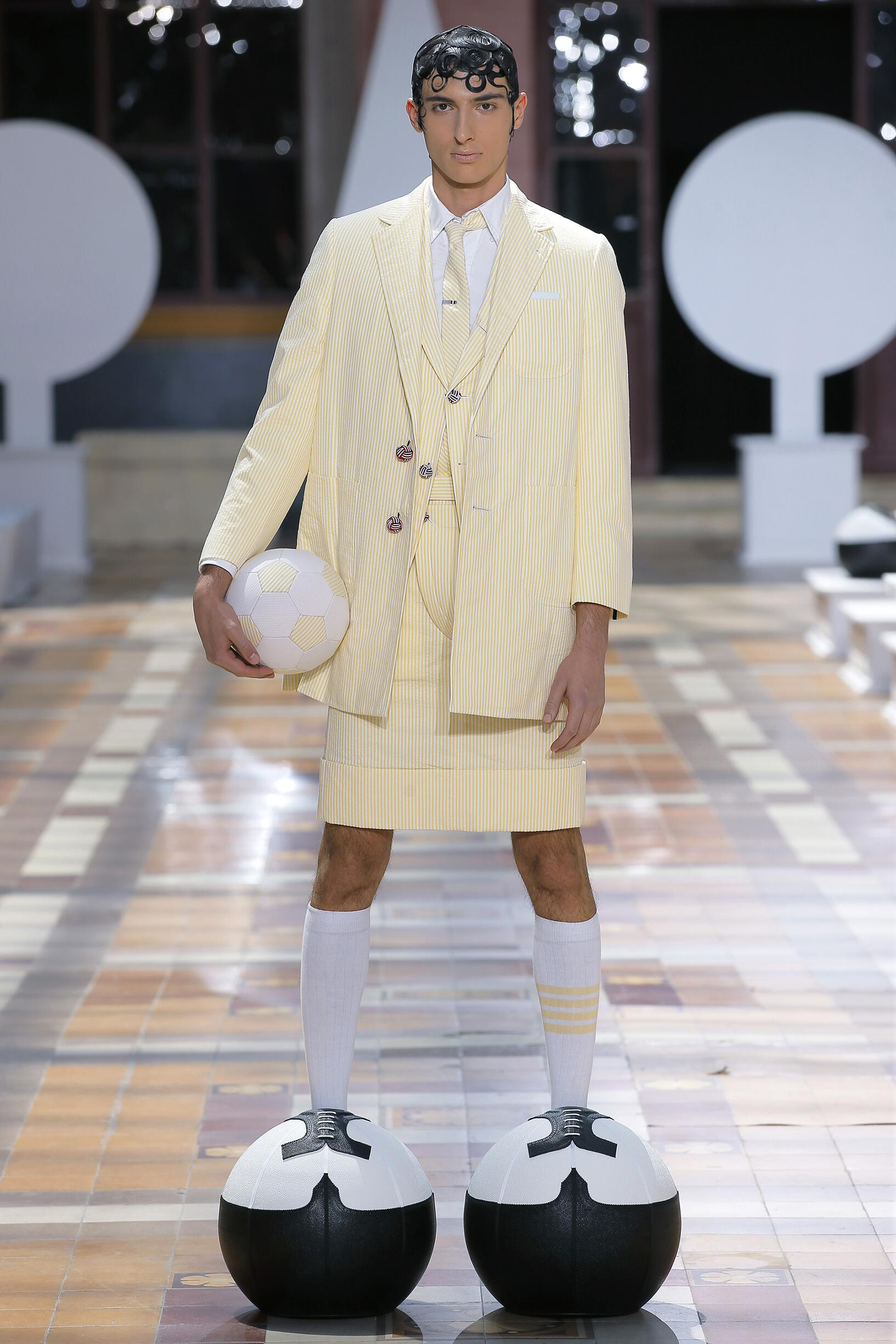 Fashion Model Thom Browne Catwalk