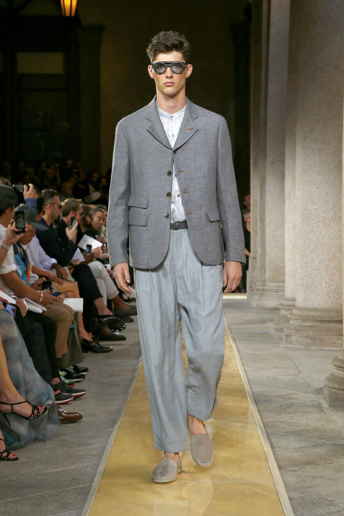 Giorgio Armani 2020 Milan Trends Menswear