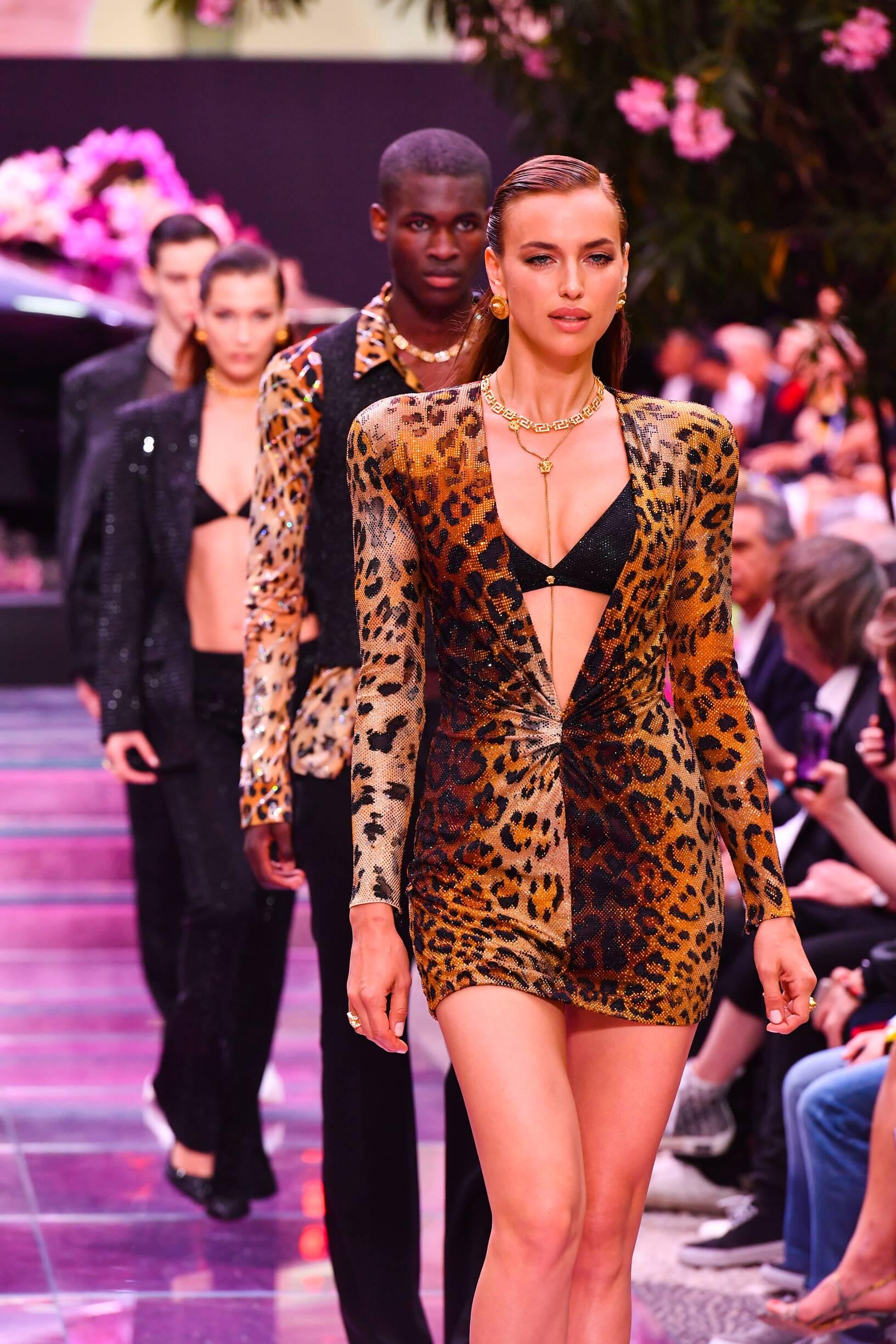 Irina Shayk Versace Fashion Show Finale