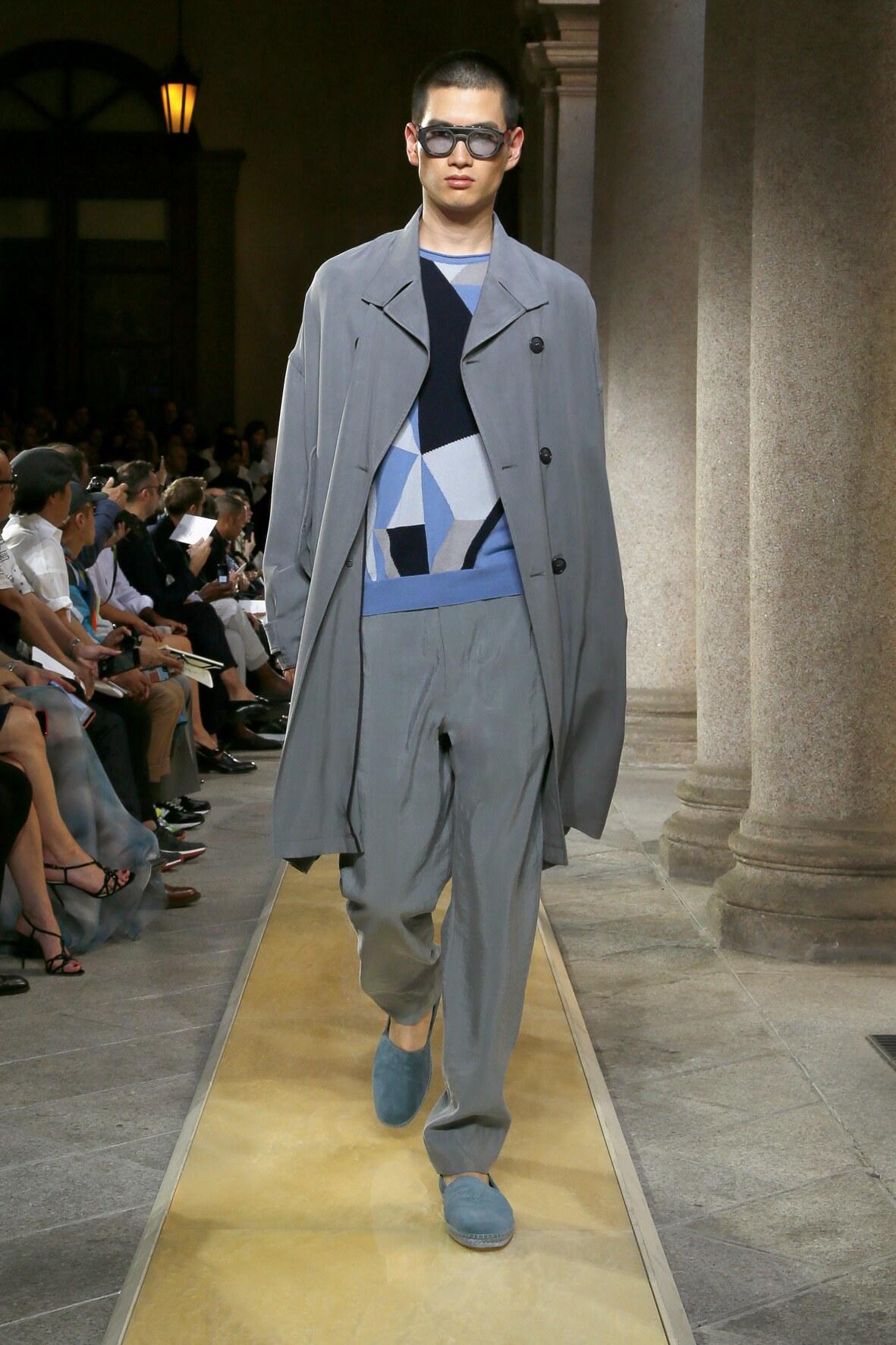 Man SS 2020 Giorgio Armani Show Milan Fashion Week