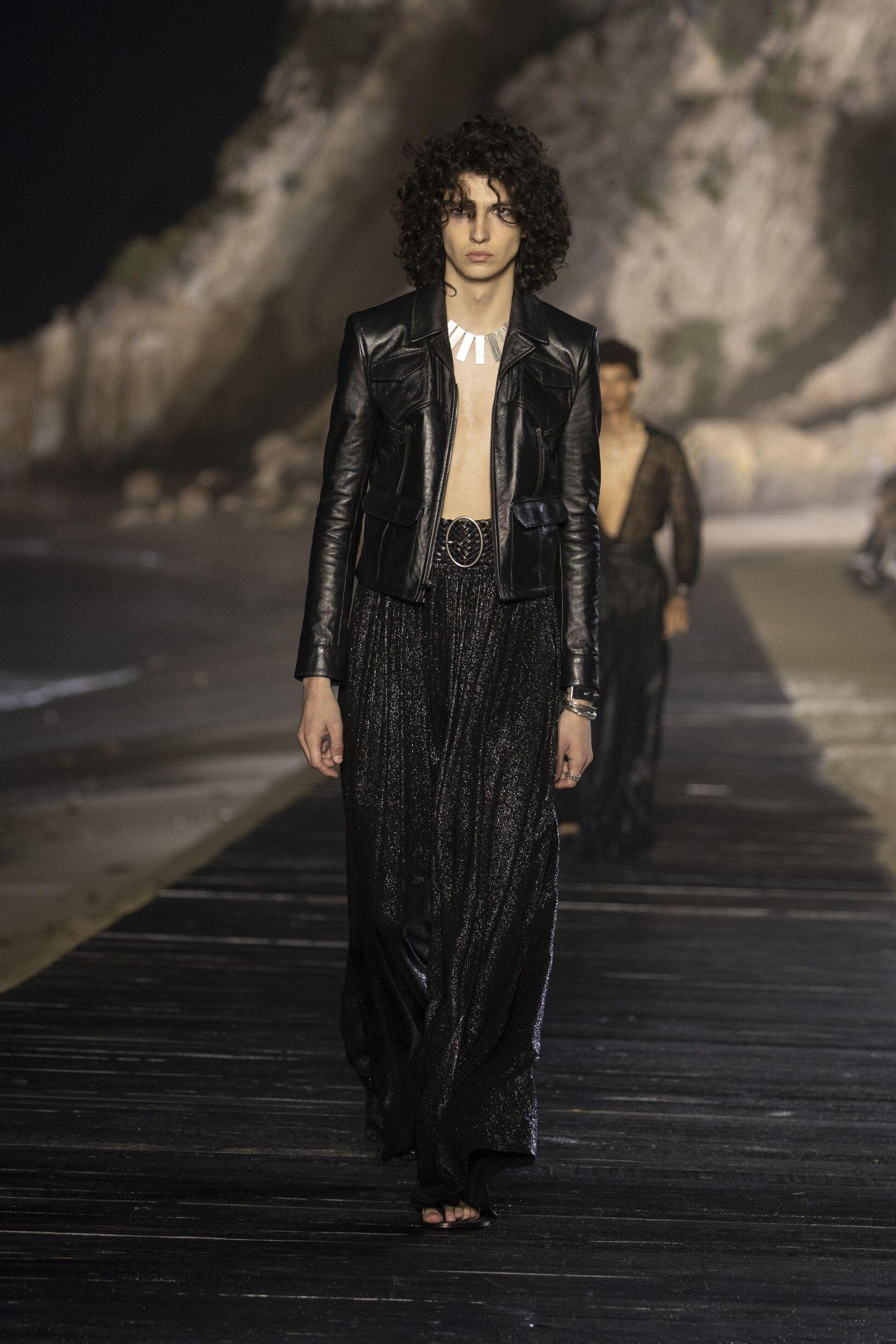 Man SS 2020 Saint Laurent Show Malibu Fashion Show