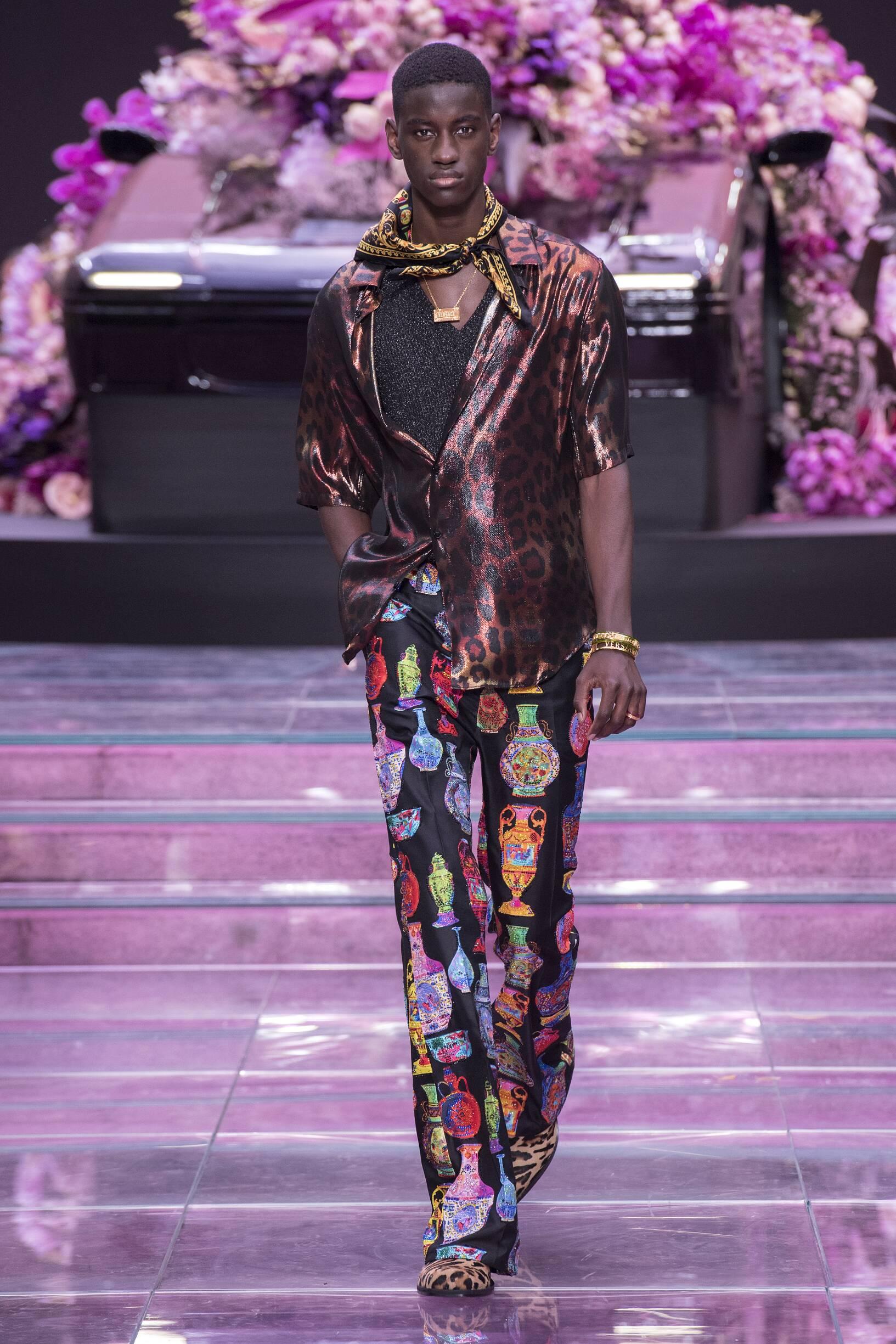 Man SS 2020 Versace Show Milan Fashion Week